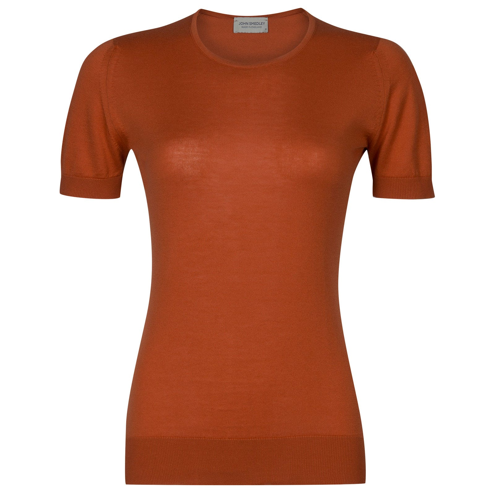 John Smedley daniella Sea Island Cotton Sweater in Flare Orange-M