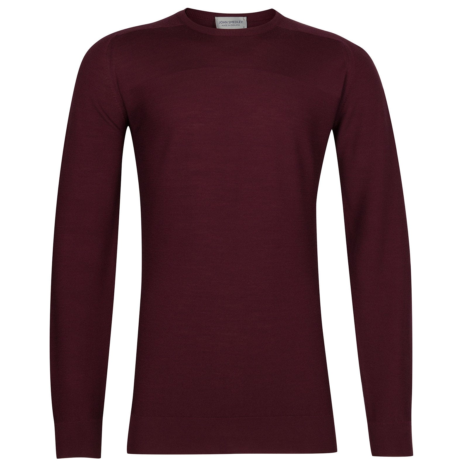 John Smedley Dash Extra Fine Merino Pullover in Bordeaux-XL
