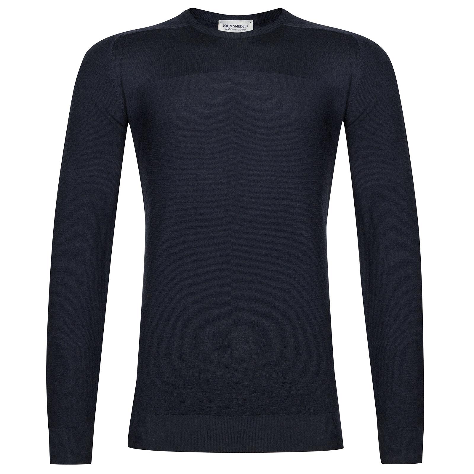 John Smedley Dash Extra Fine Merino Pullover in Midnight-L