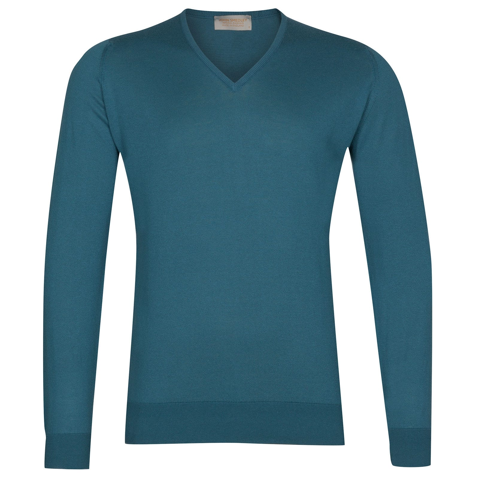 John Smedley Dayton Sea Island Cotton and Cashmere Pullover in Bias