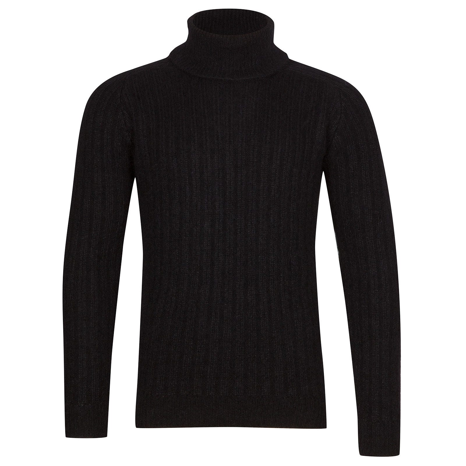 John Smedley Degree Viscose Blend Pullover In Black-S
