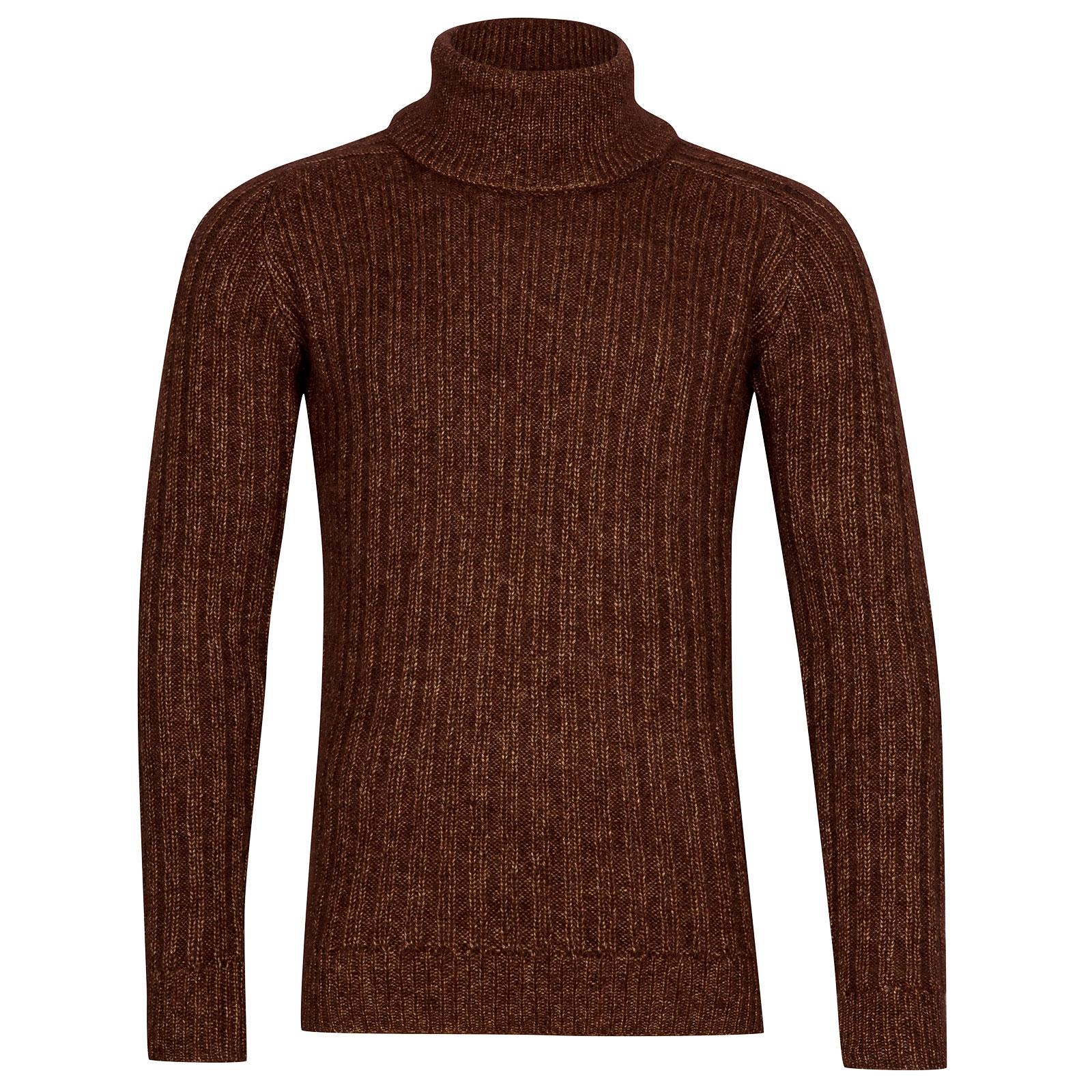 John Smedley Degree Viscose Blend Pullover In Bronze-XL