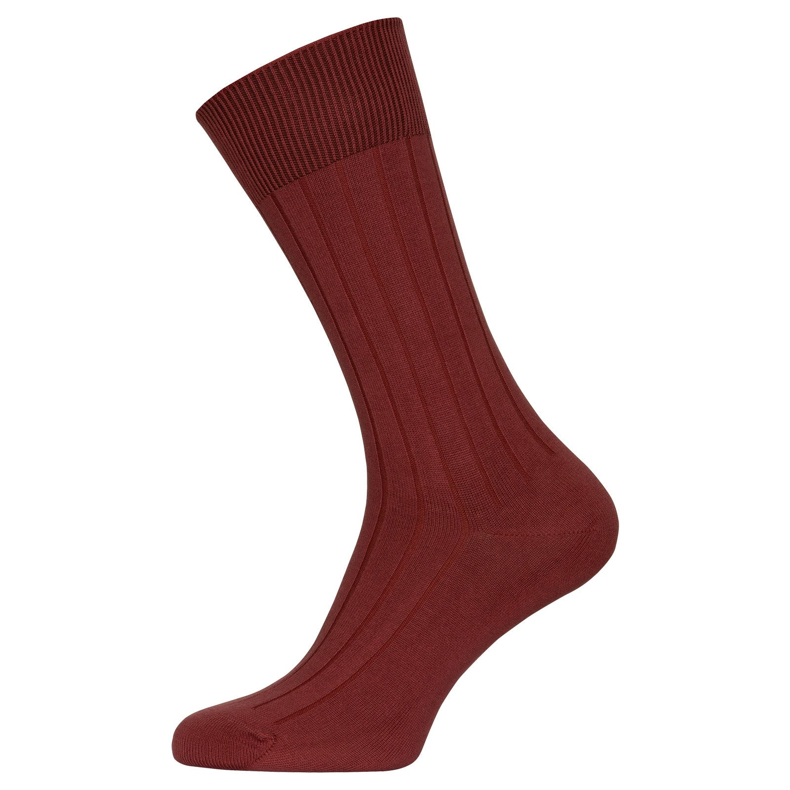 John Smedley Delta in Botanical Blush Socks-S/M