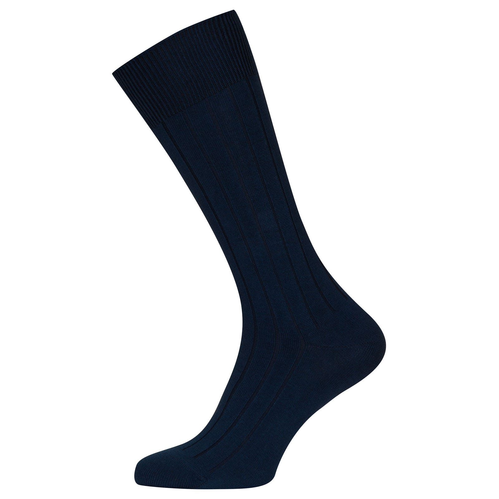 John Smedley Delta Sea Island Cotton Socks in Indigo-M/L