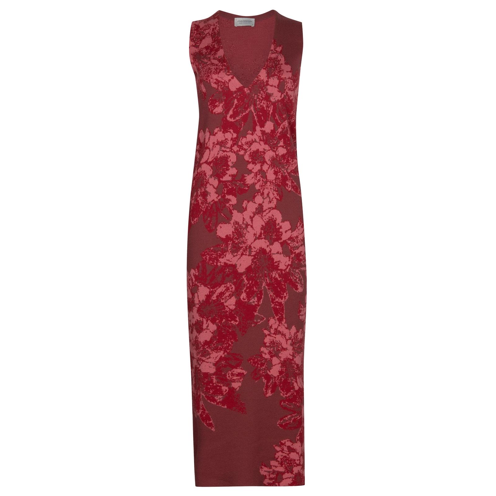 John Smedley Dempsey in Botanical Blush Dress-SML