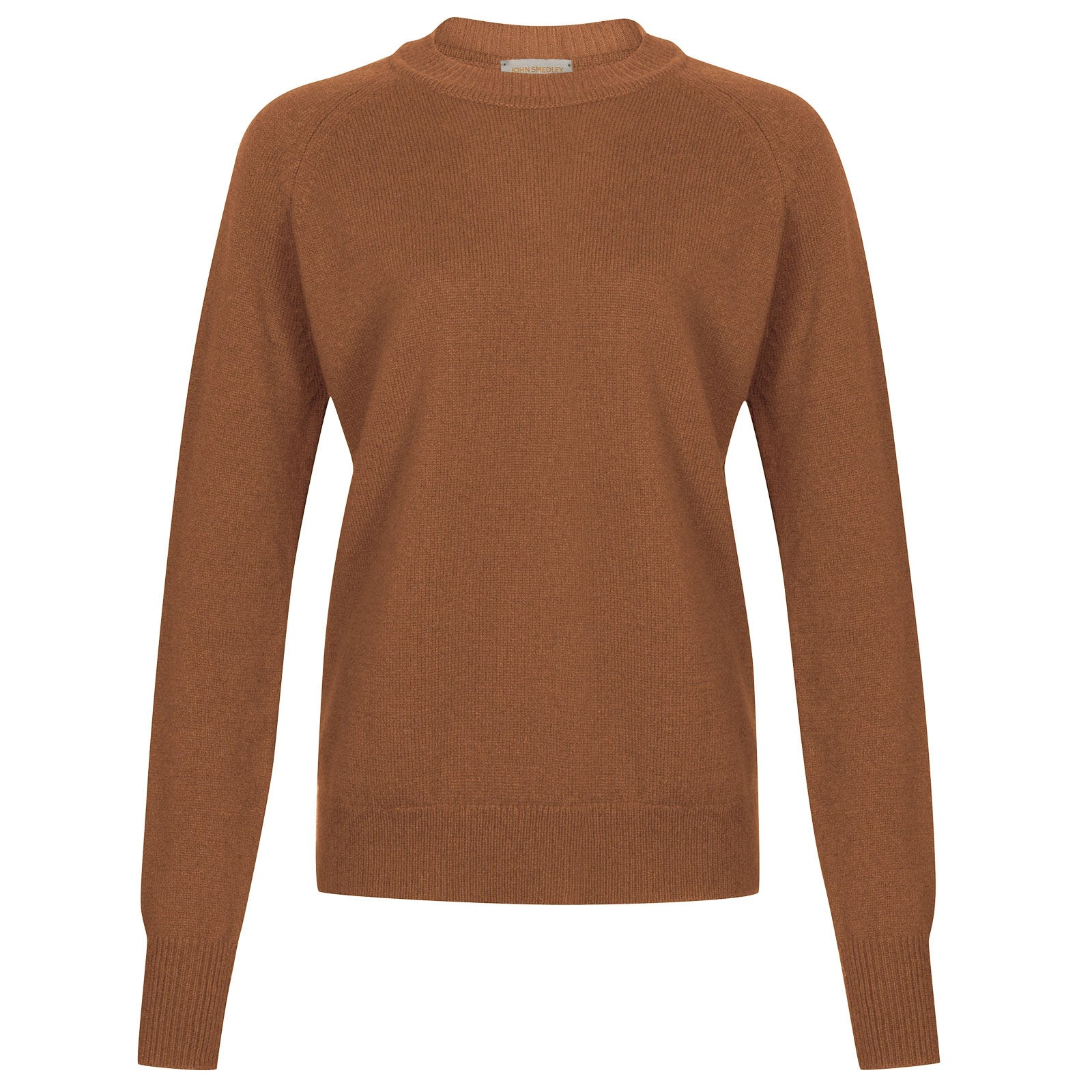 John Smedley dillon Merino Wool & Cashmere Sweater in Camel-XL