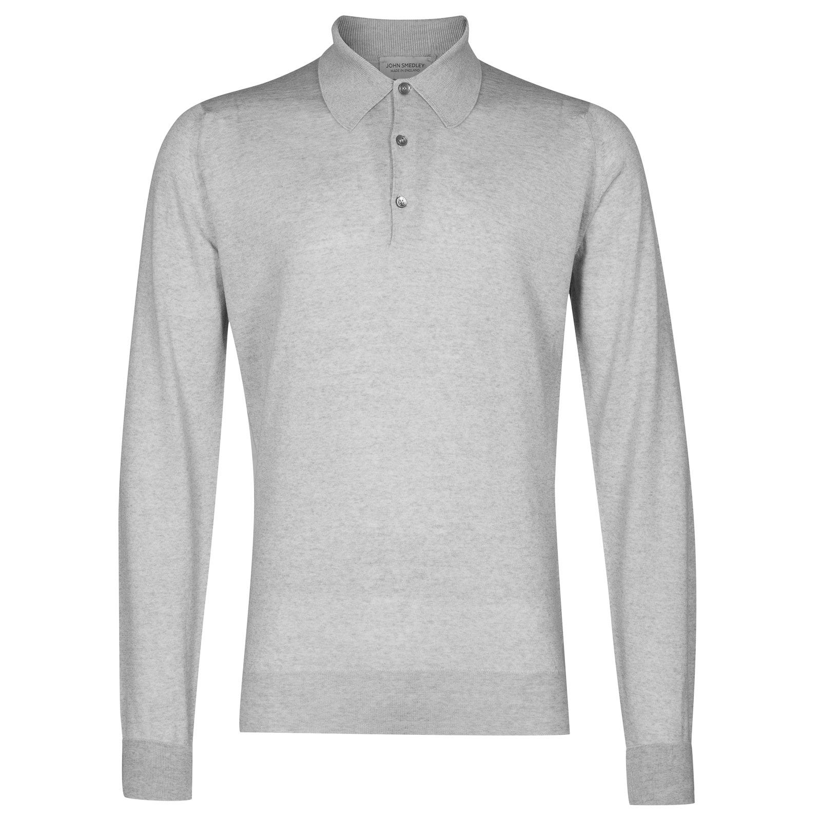 John Smedley dorset Merino Wool Shirt in Bardot Grey-XL