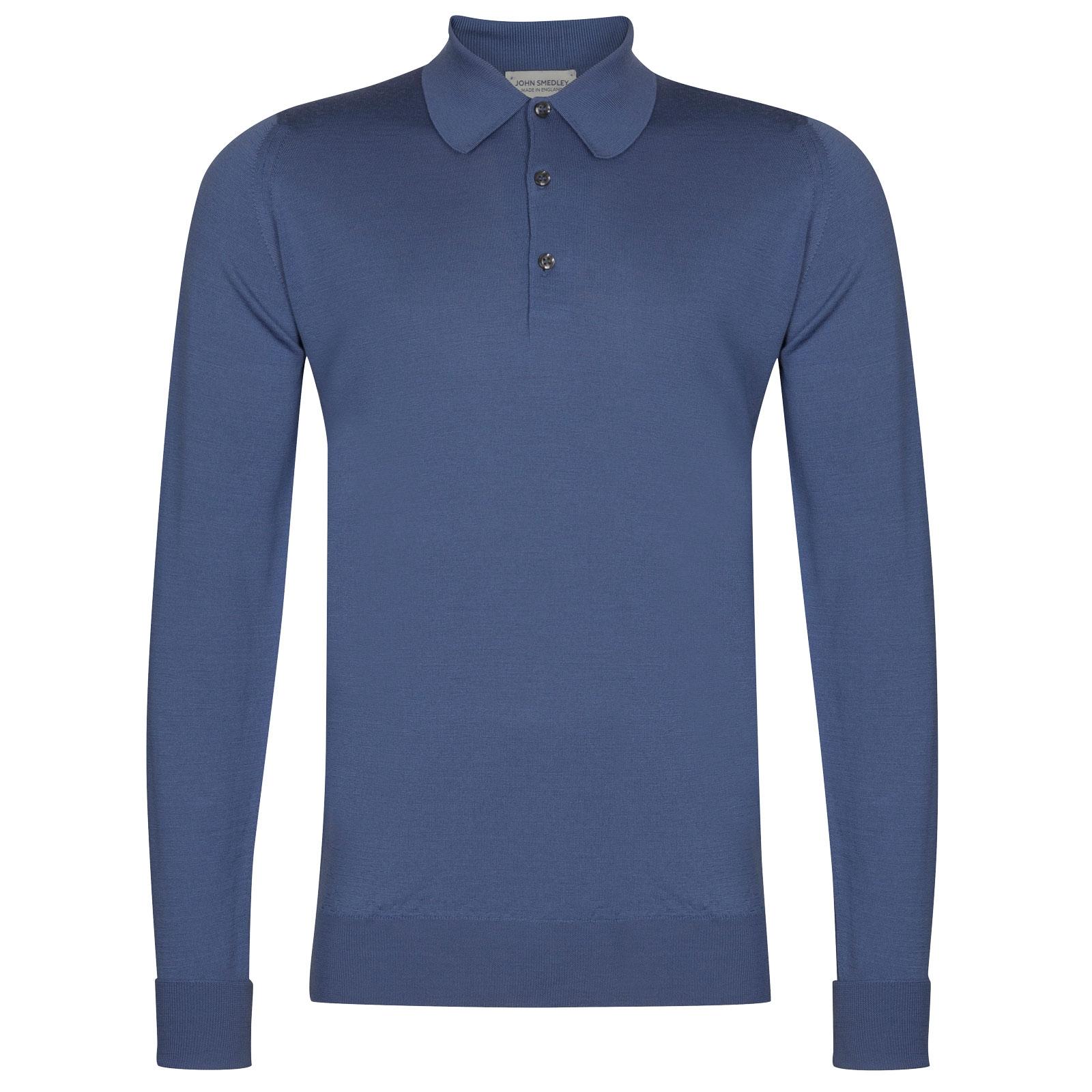 John Smedley Dorset in Blue Iris Shirt-xsm