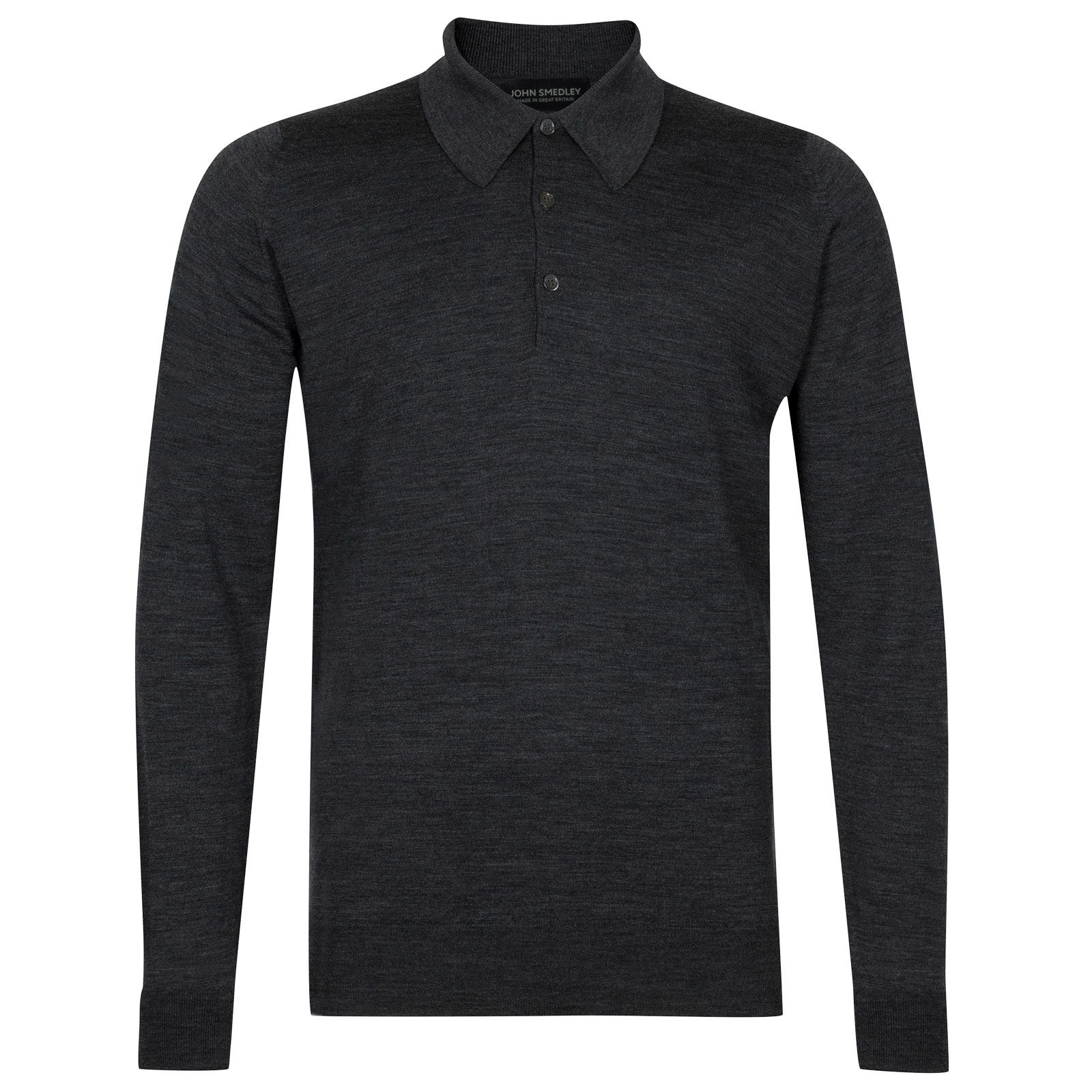John Smedley dorset Merino Wool Shirt in Charcoal-M
