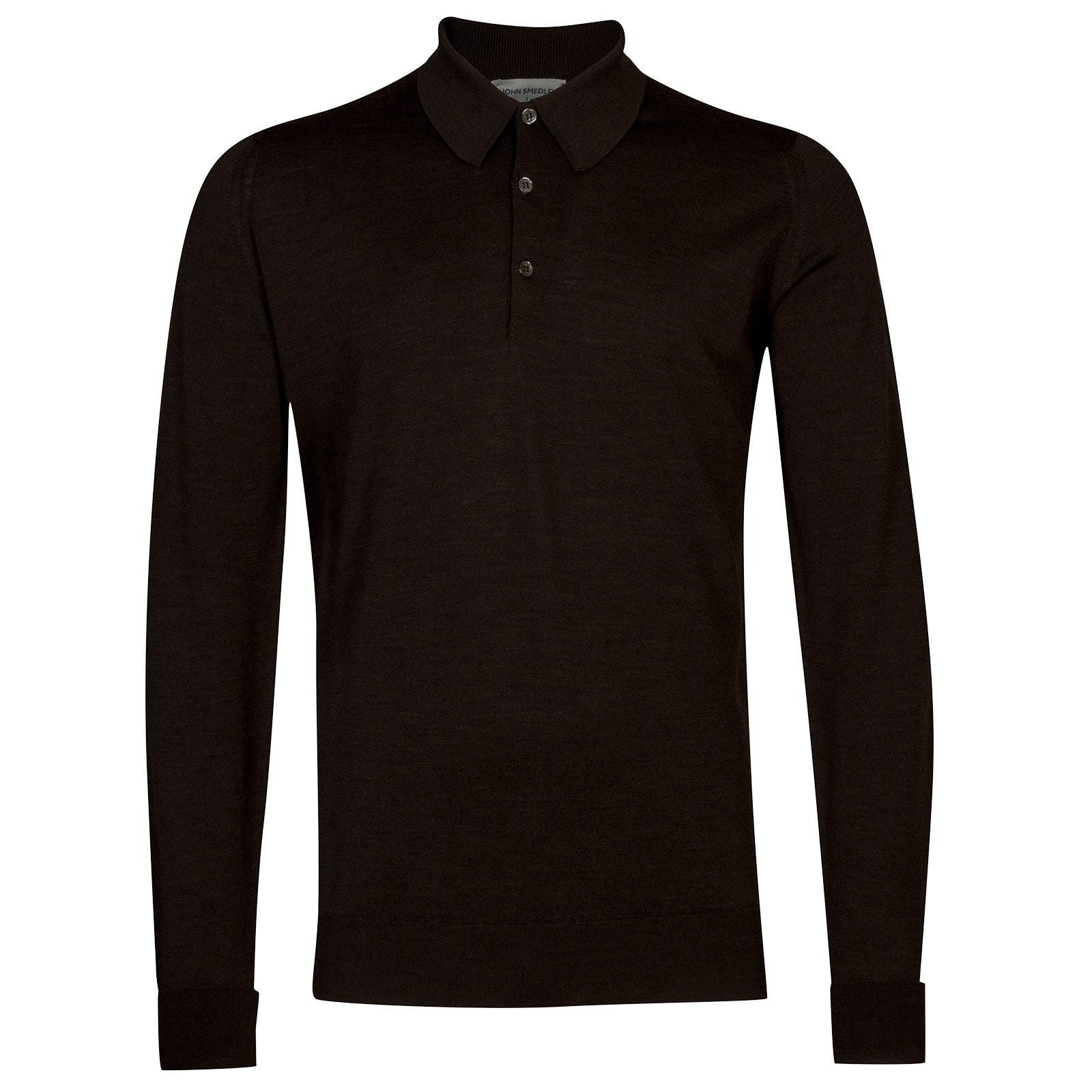 John Smedley Dorset Merino Wool Shirt in Chestnut-XXL