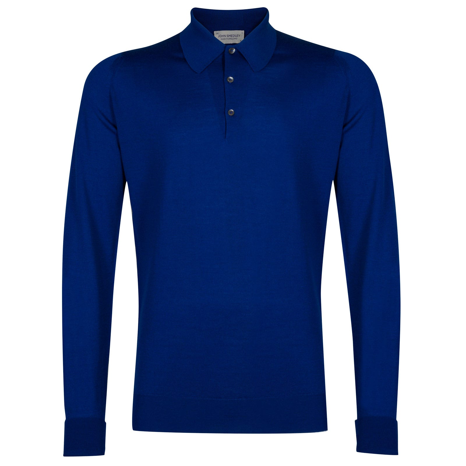 John Smedley dorset Merino Wool Shirt in Coniston Blue-L