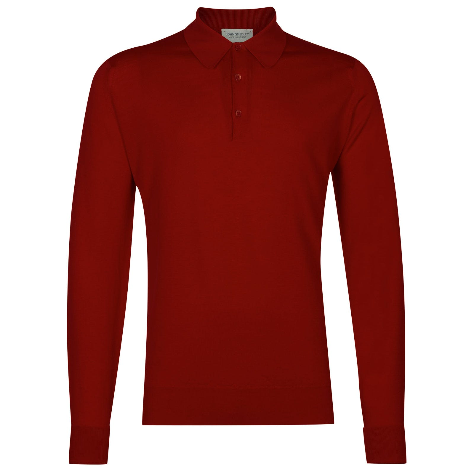 John Smedley dorset Merino Wool Shirt in Dandy Red-XXL