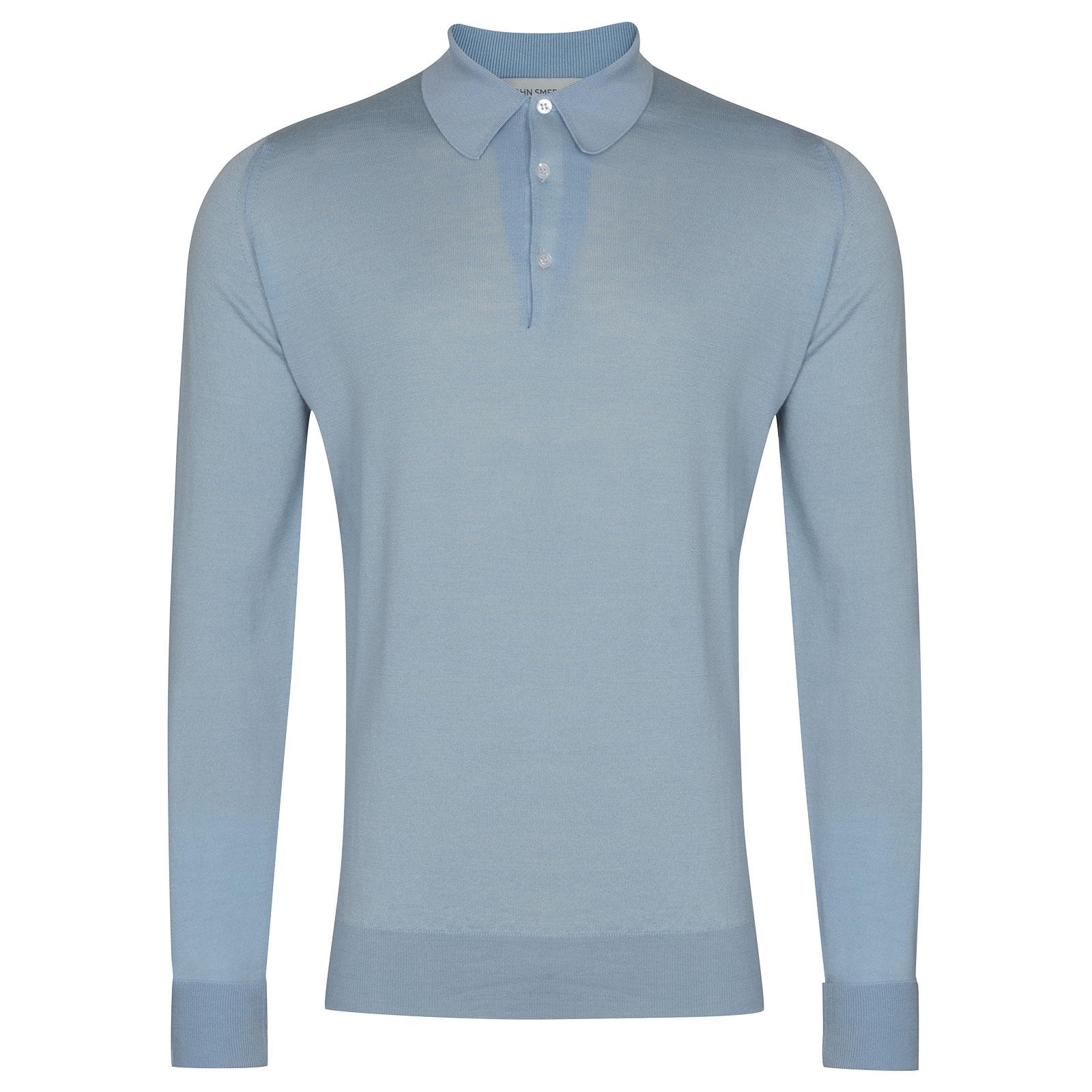 John Smedley Dorset in Dusk Blue Shirt-XXL