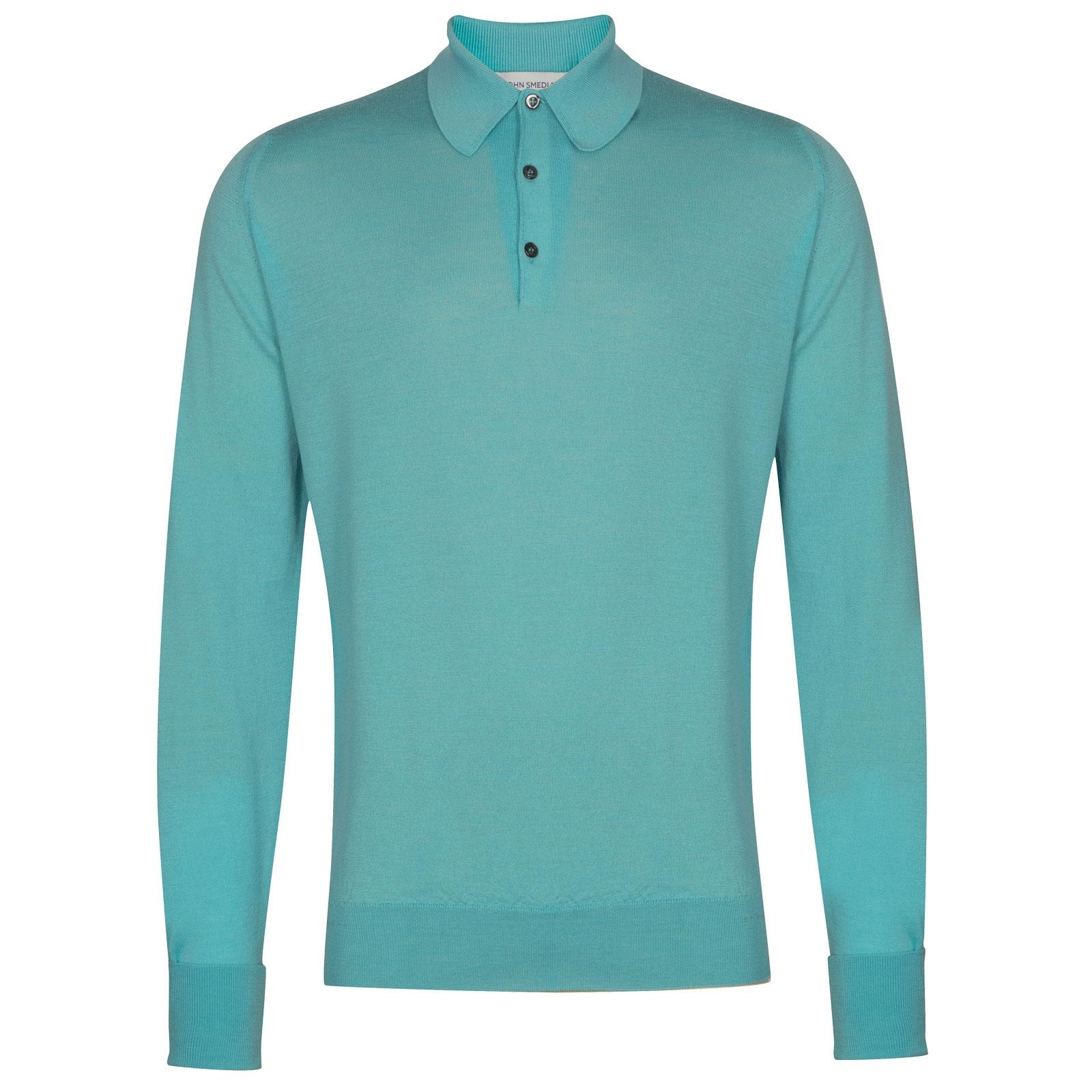 John Smedley Dorset in Empyrean Blue Shirt-xsm