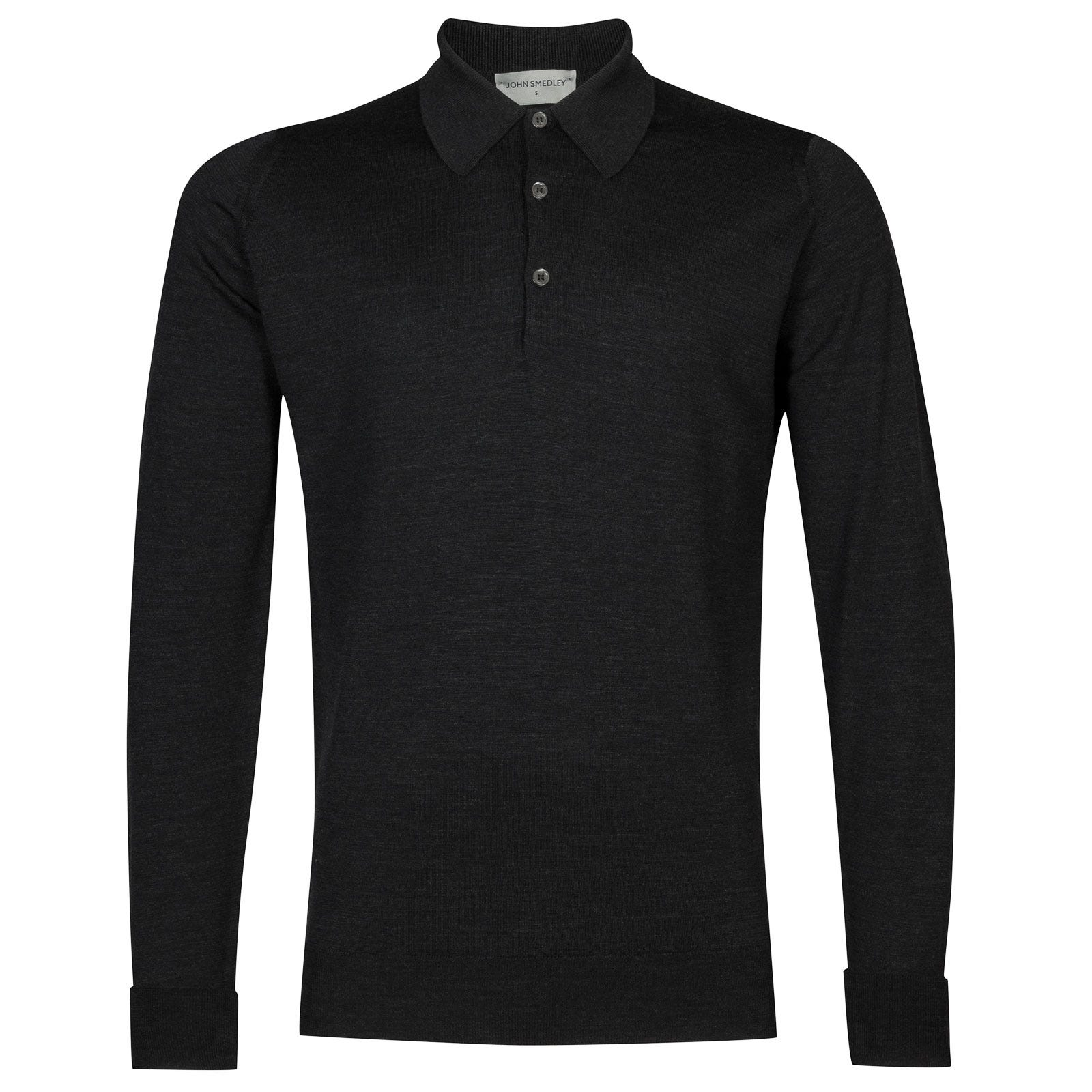 John Smedley dorset Merino Wool Shirt in Hepburn Smoke-L