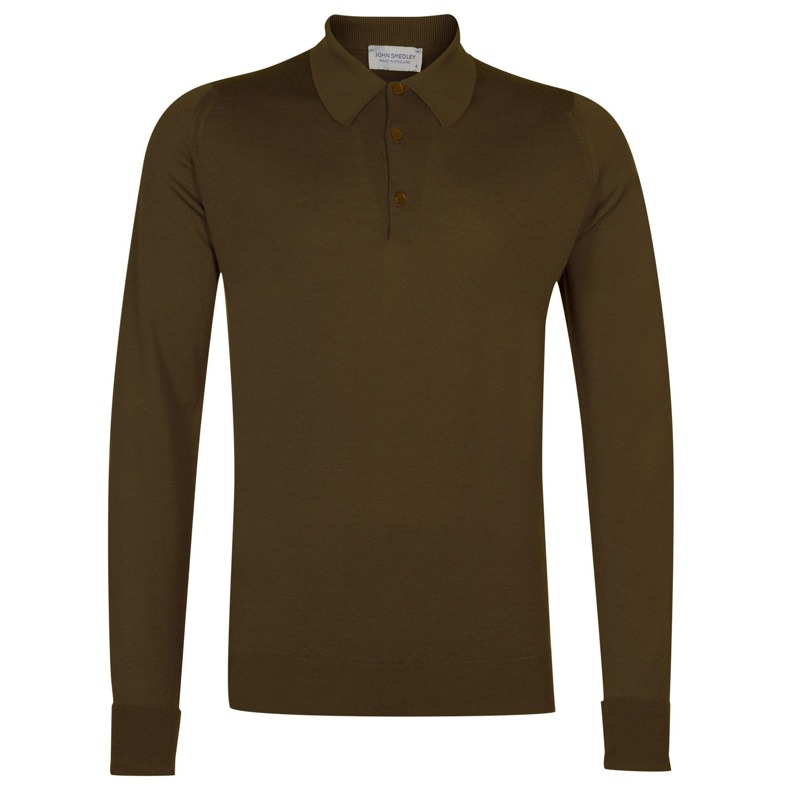 John Smedley dorset Merino Wool Shirt in Kielder Green-XL