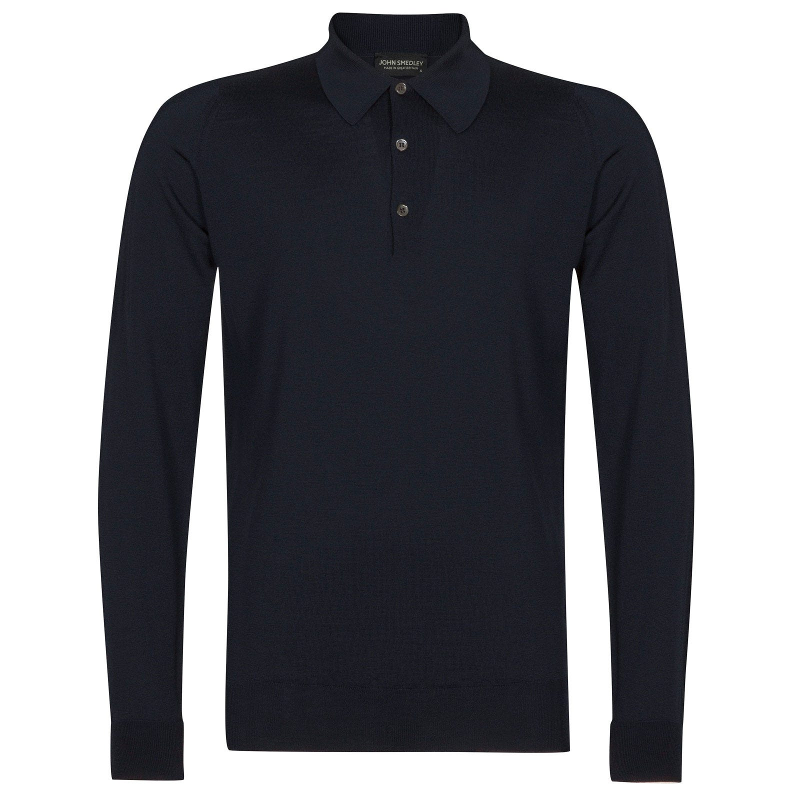 John Smedley dorset Merino Wool Shirt in Midnight-S