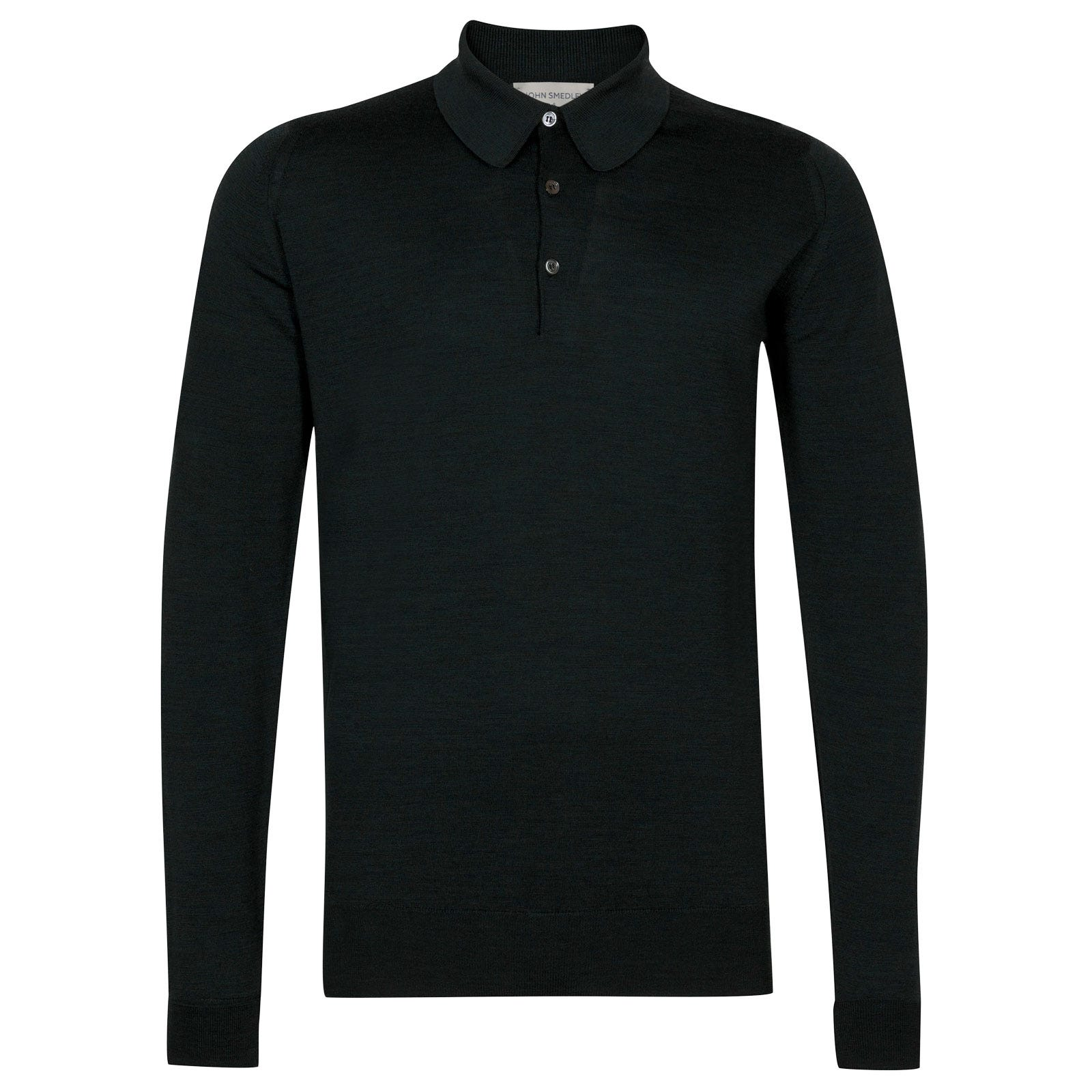 John Smedley Dorset Merino Wool Shirt in Racing Green-XL