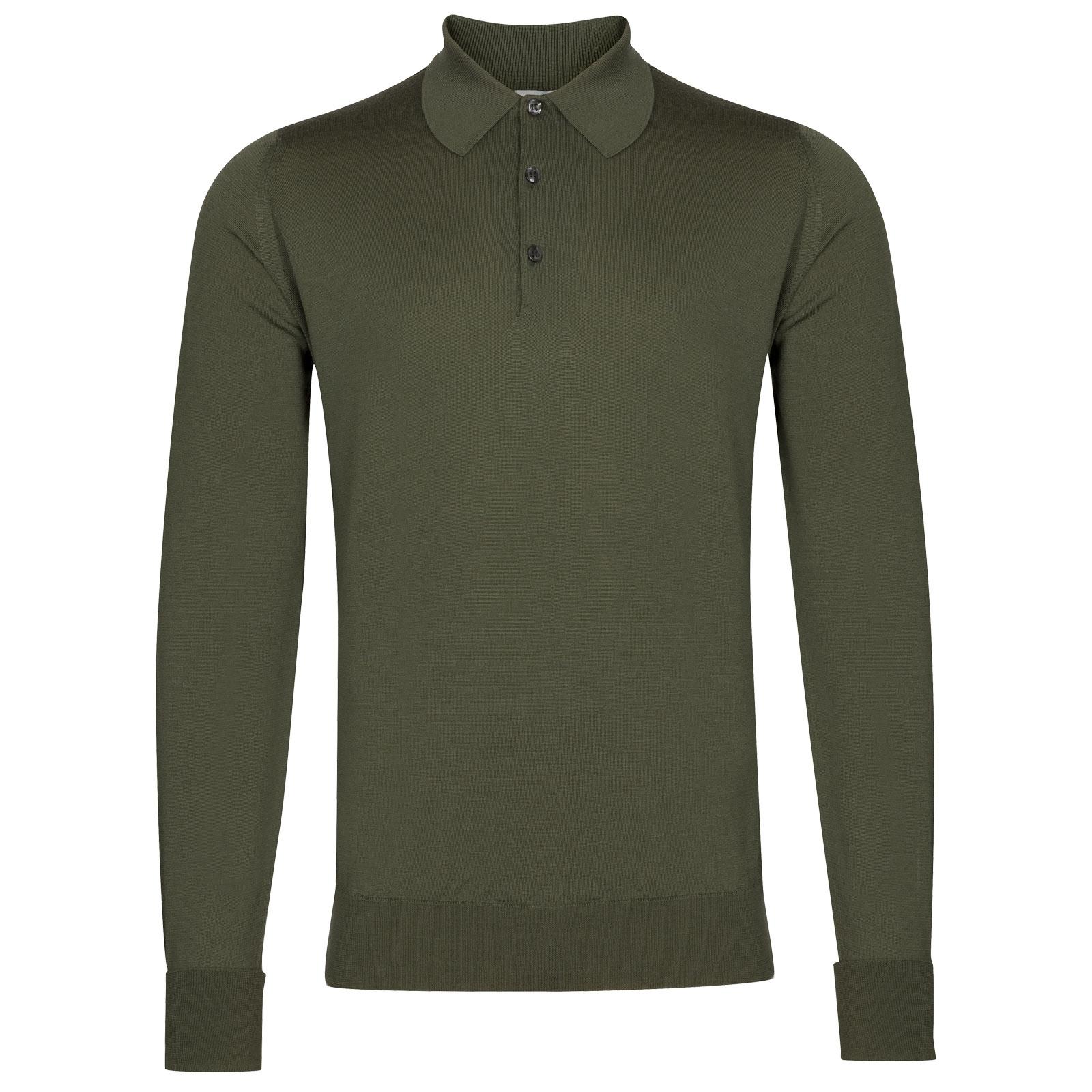 John Smedley Dorset in Sepal Green Shirt-XLG