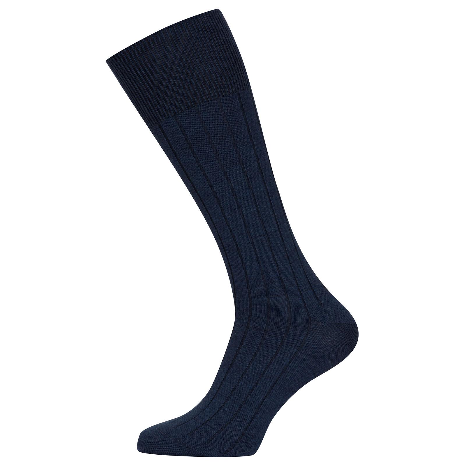 John Smedley Ebury in Indigo Socks-S/M