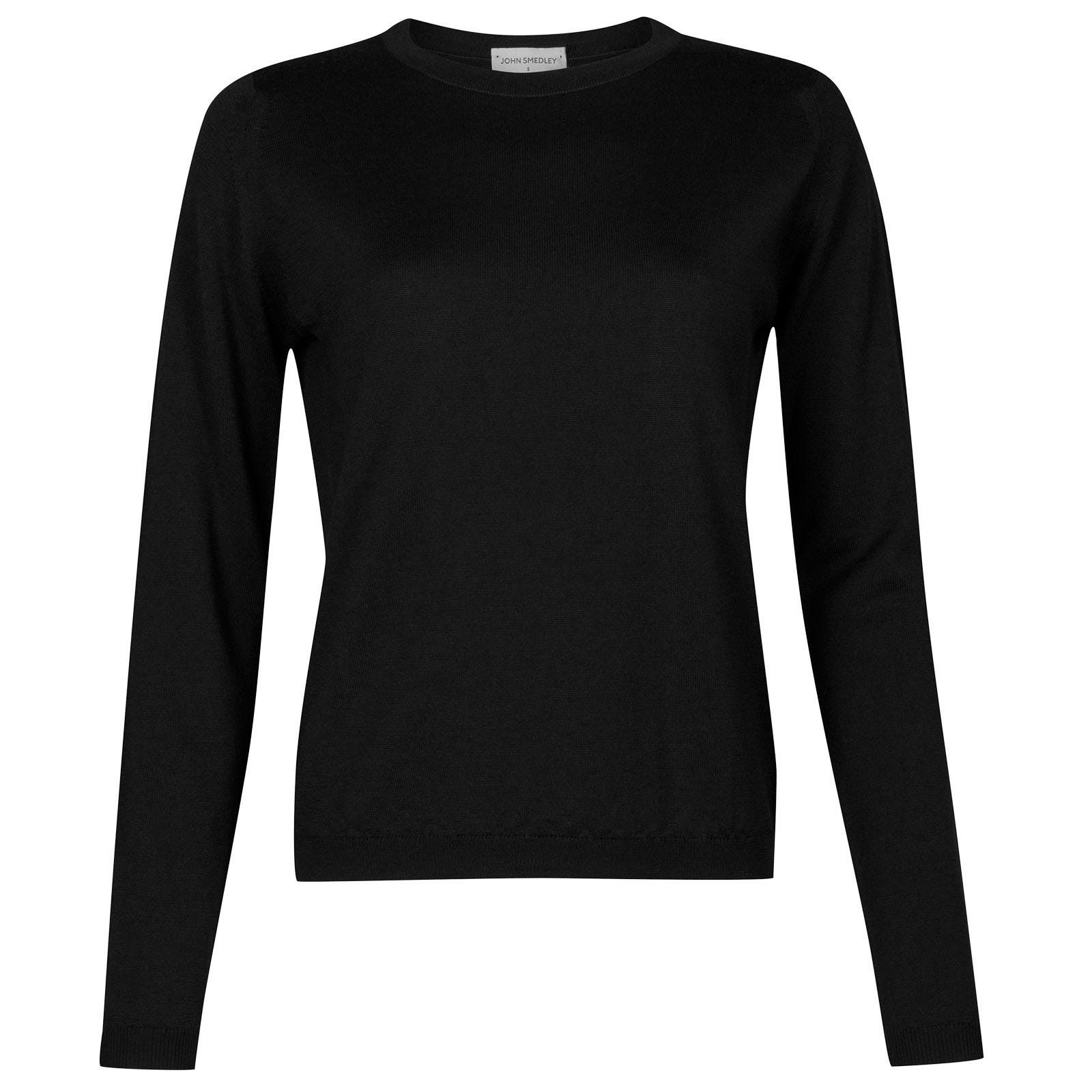 John Smedley Edmee Merino Wool Sweater in Black-L