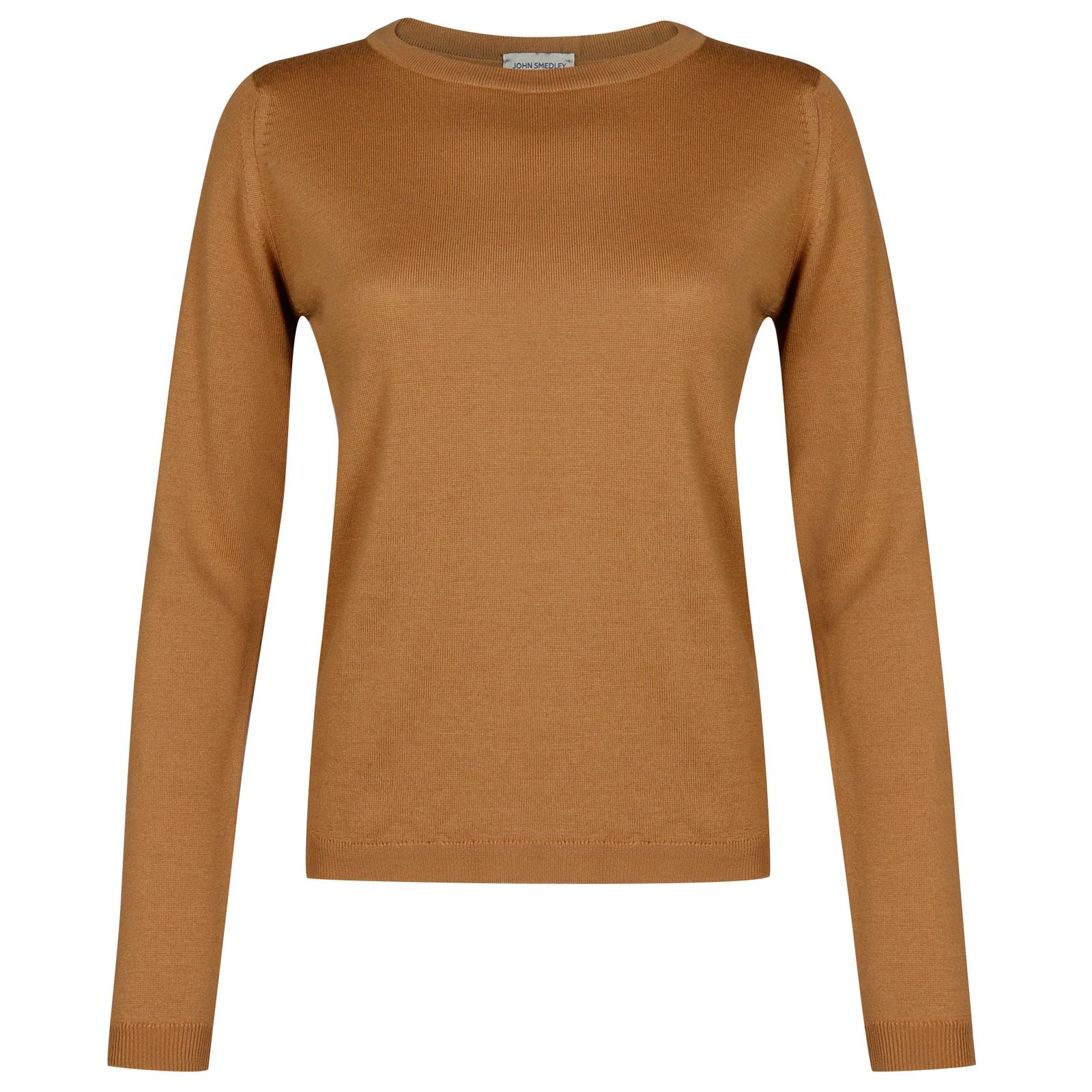 John Smedley Edmee Merino Wool Sweater in Camel-S