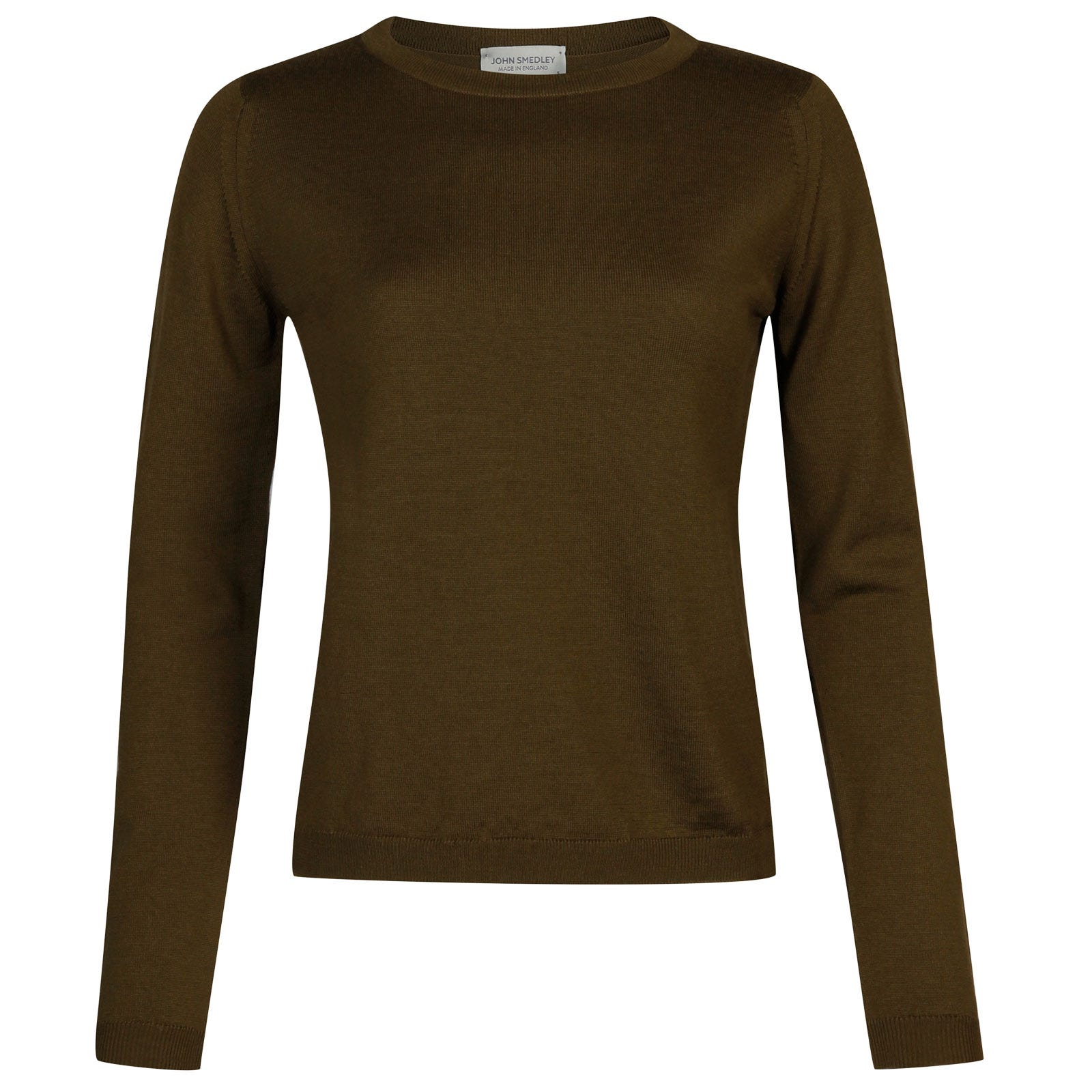 John Smedley Edmee Merino Wool Sweater in Kielder Green-XL