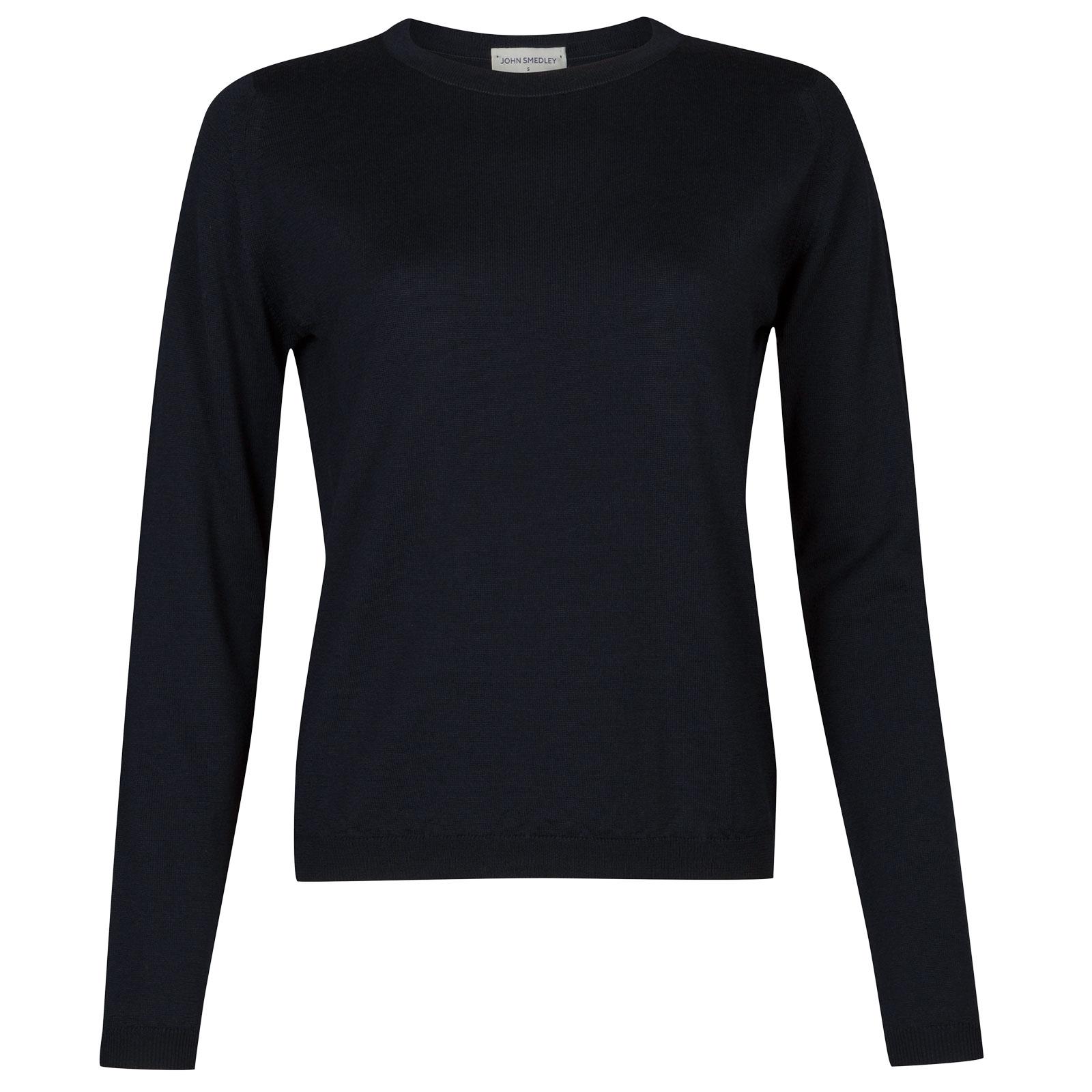 John Smedley Edmee Merino Wool Sweater in Midnight-L