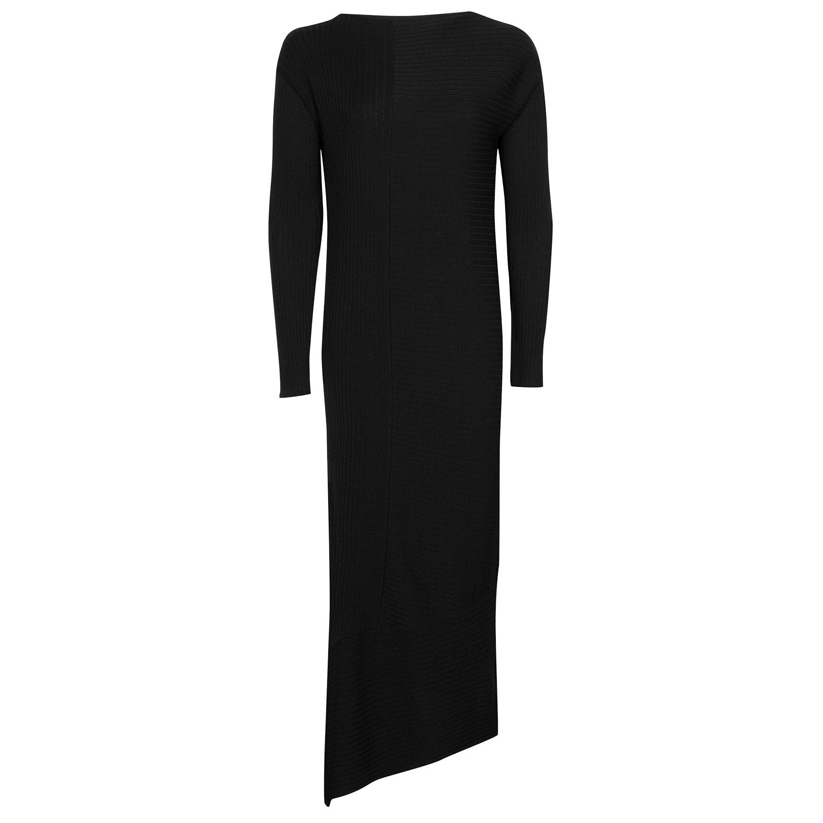 John Smedley Elion Merino Wool Dress in Black-S