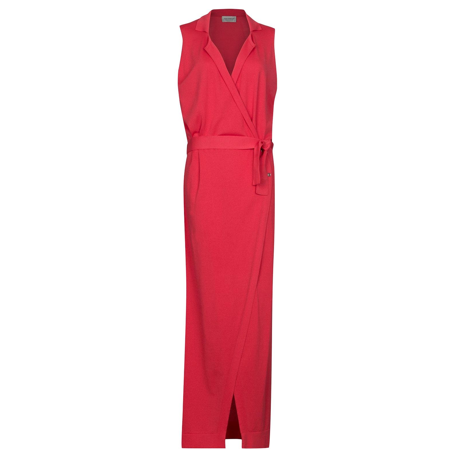 John Smedley Elwick Merino Wool Dress in Ruche Red-XL