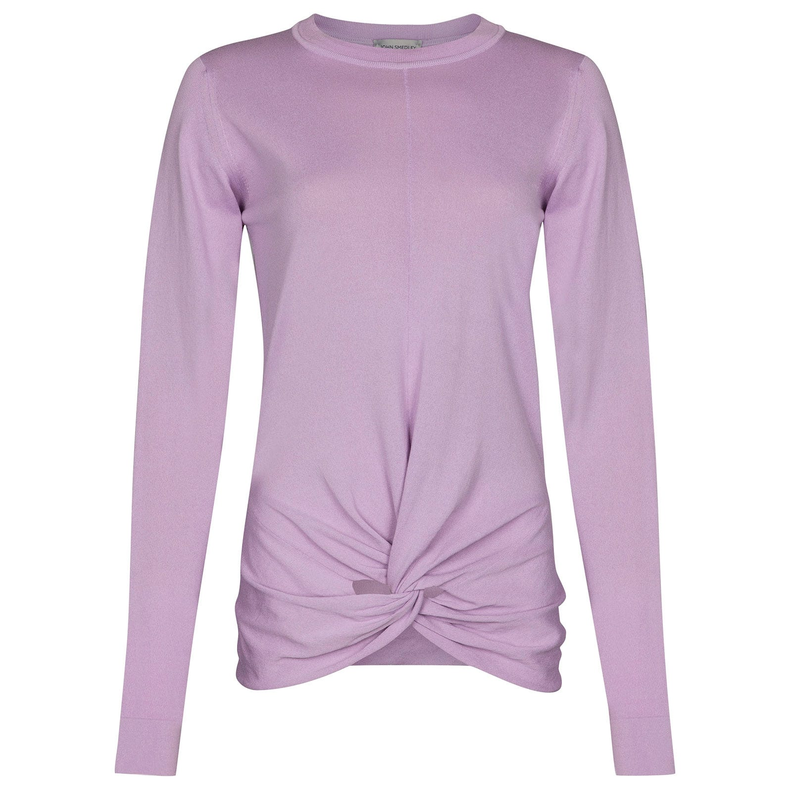 John Smedley Emley Merino Wool Sweater in Pintuck Lilac-S
