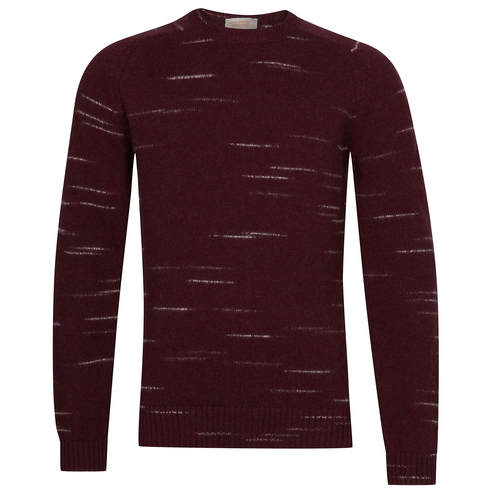 John Smedley Salke Viscose Blend Pullover In Bordeaux-S