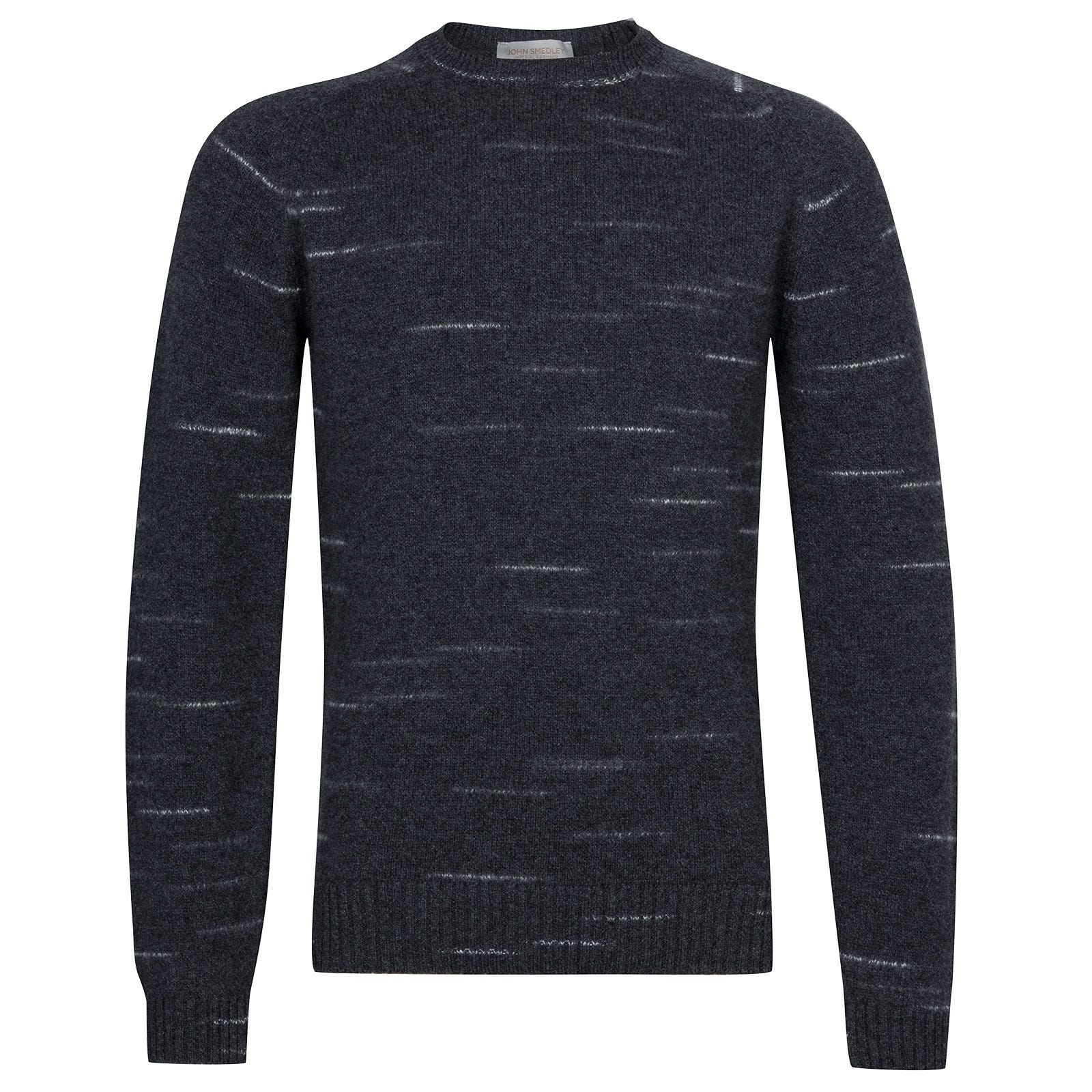 John Smedley Energy Viscose Blend Pullover In Charcoal-M