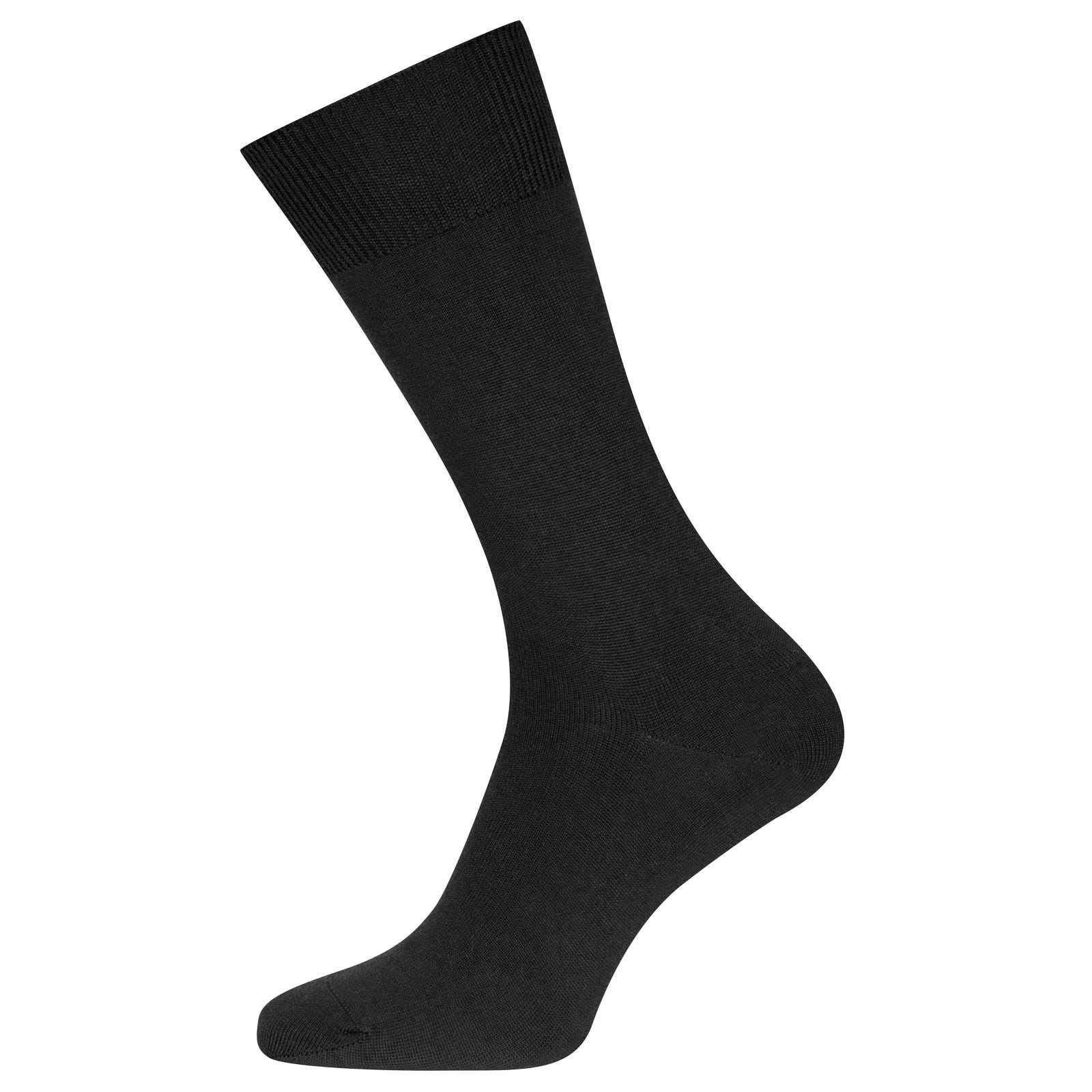 John Smedley eros Sea Island Cotton and Cashmere Socks in Black-S/M