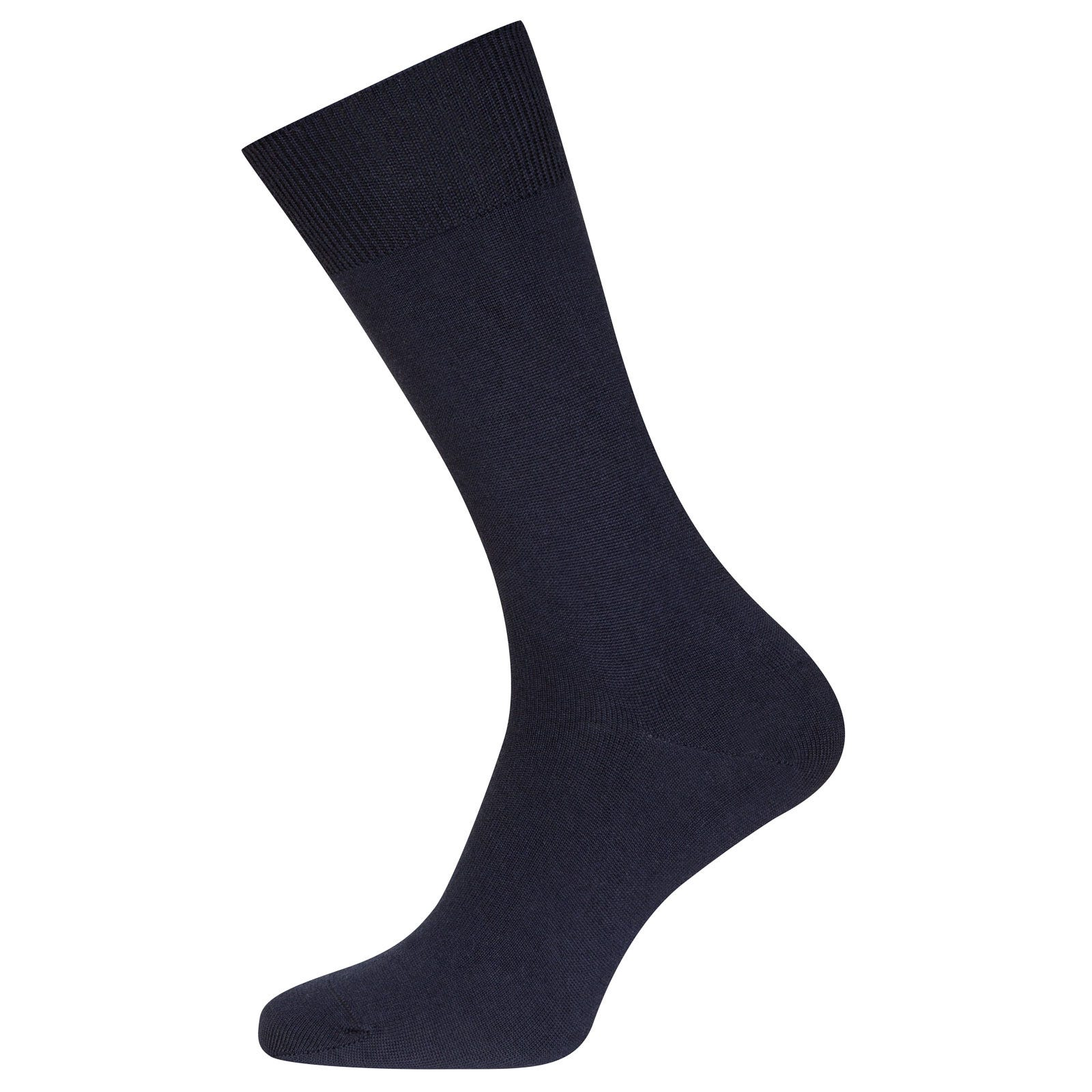 John Smedley eros Sea Island Cotton and Cashmere Socks in Navy-M/L