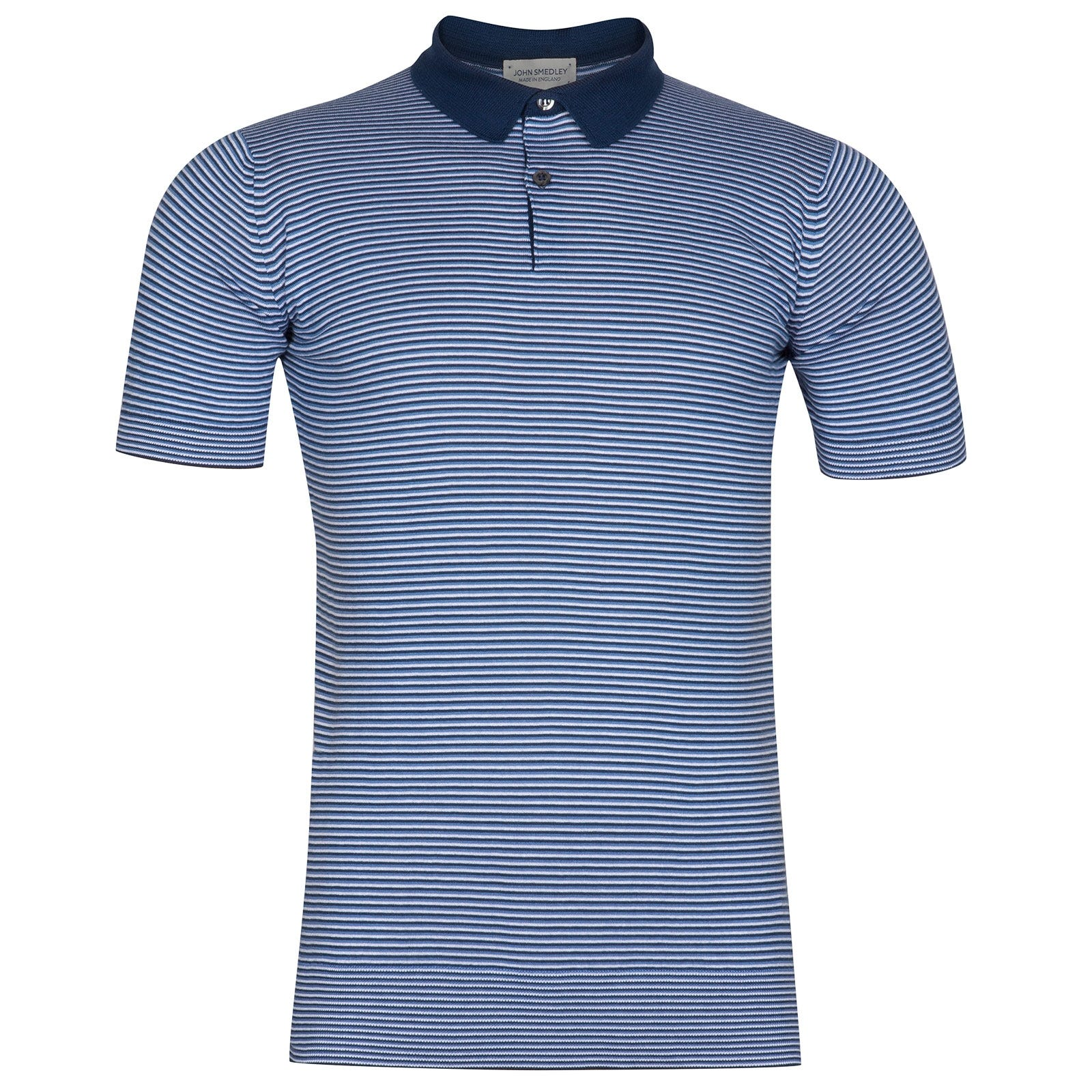 John Smedley Etton Sea Island Cotton Shirt in Indigo-S