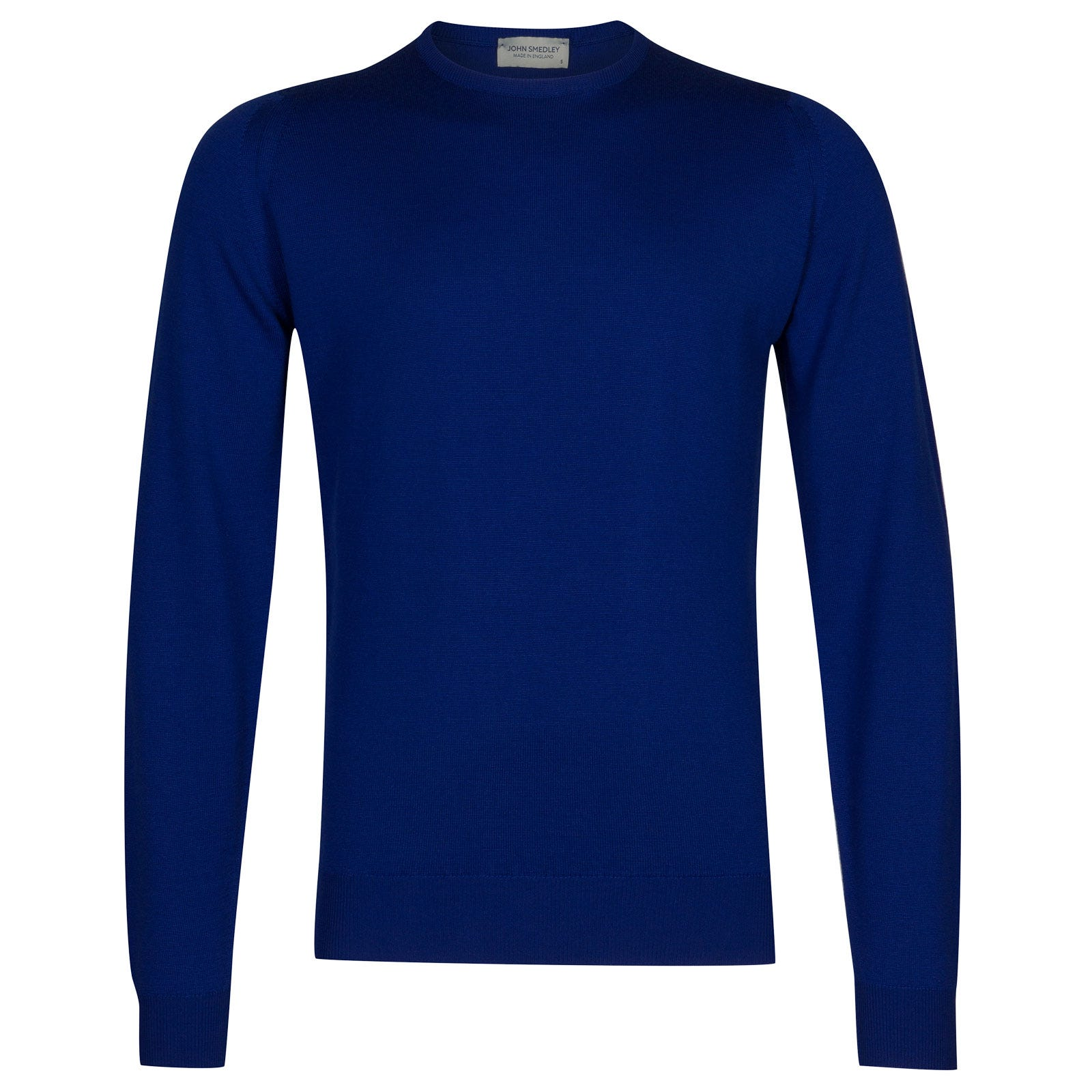 John Smedley farhill Merino Wool Pullover in Coniston Blue-M