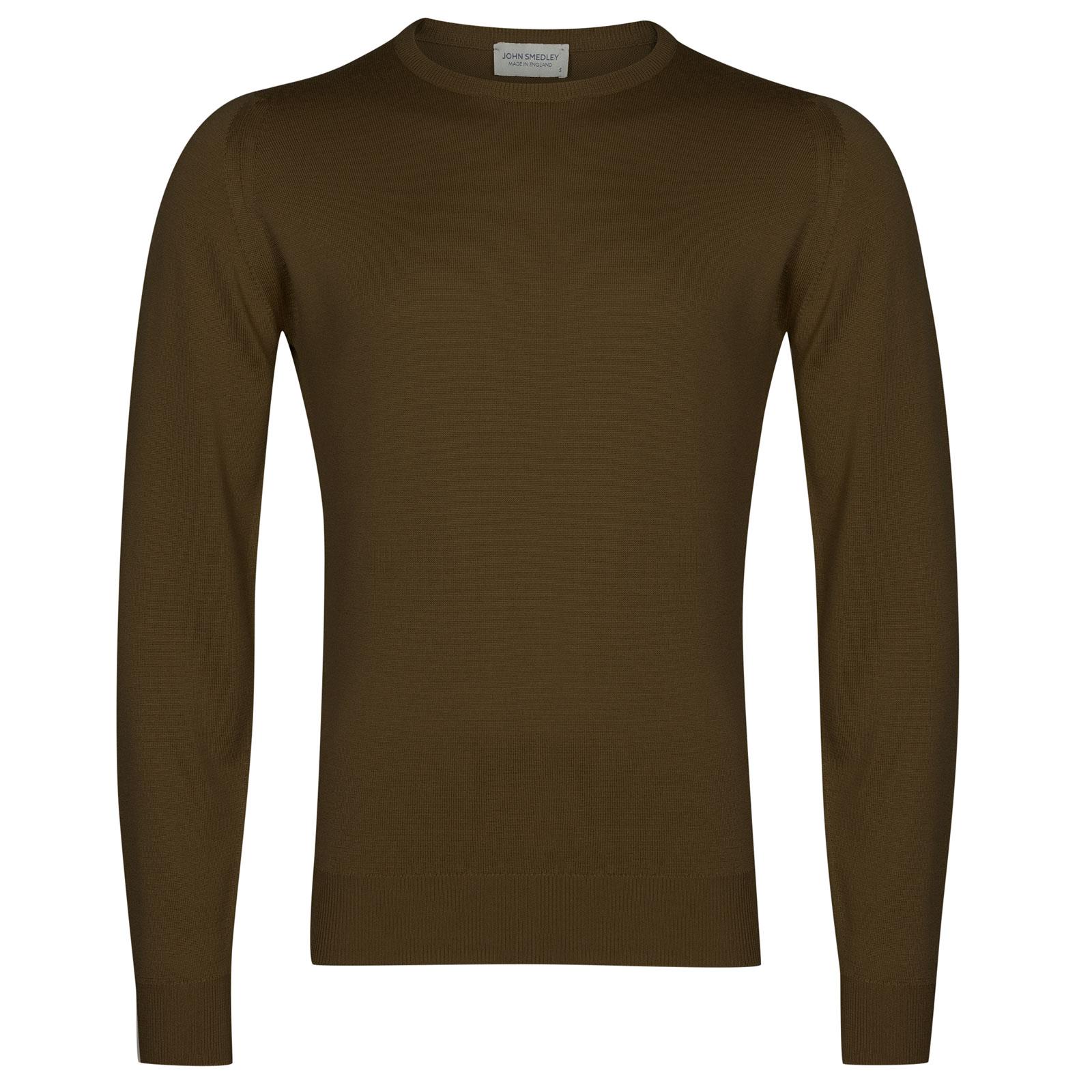 John Smedley farhill Merino Wool Pullover in Kielder Green-S