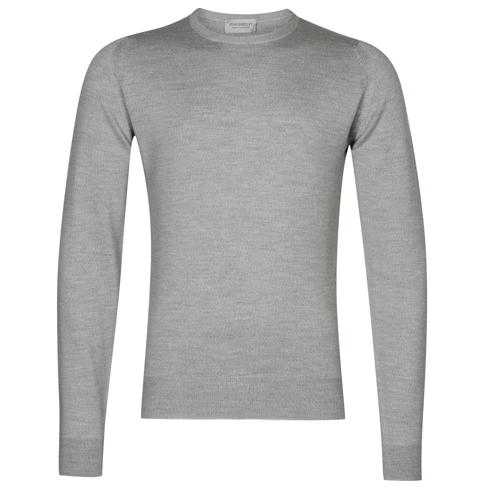John Smedley farhill Merino Wool Pullover in Bardot Grey-XXL