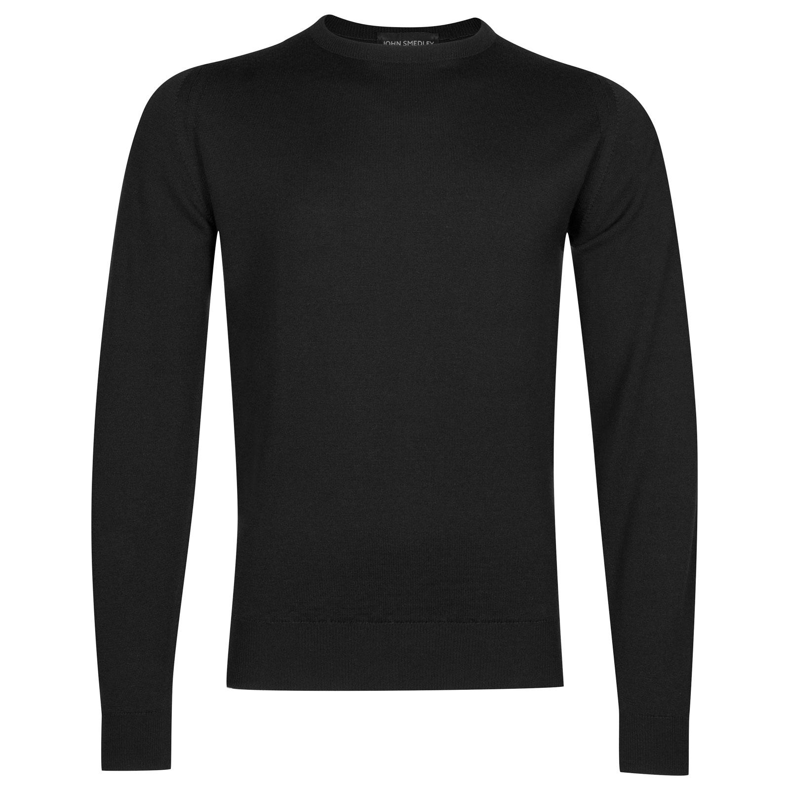 John Smedley farhill Merino Wool Pullover in Black-XL