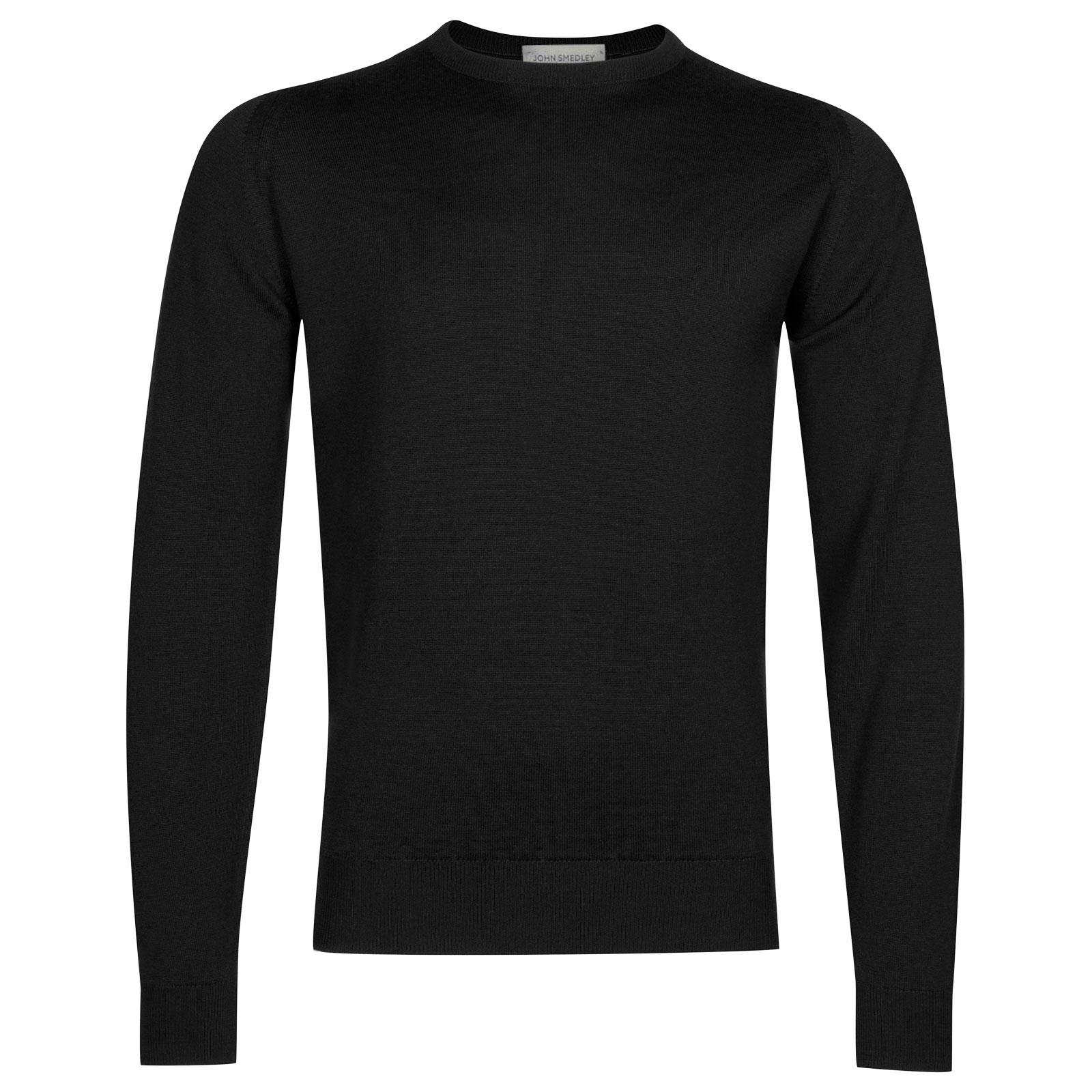 John Smedley Farhill Merino Wool Pullover in Black-L