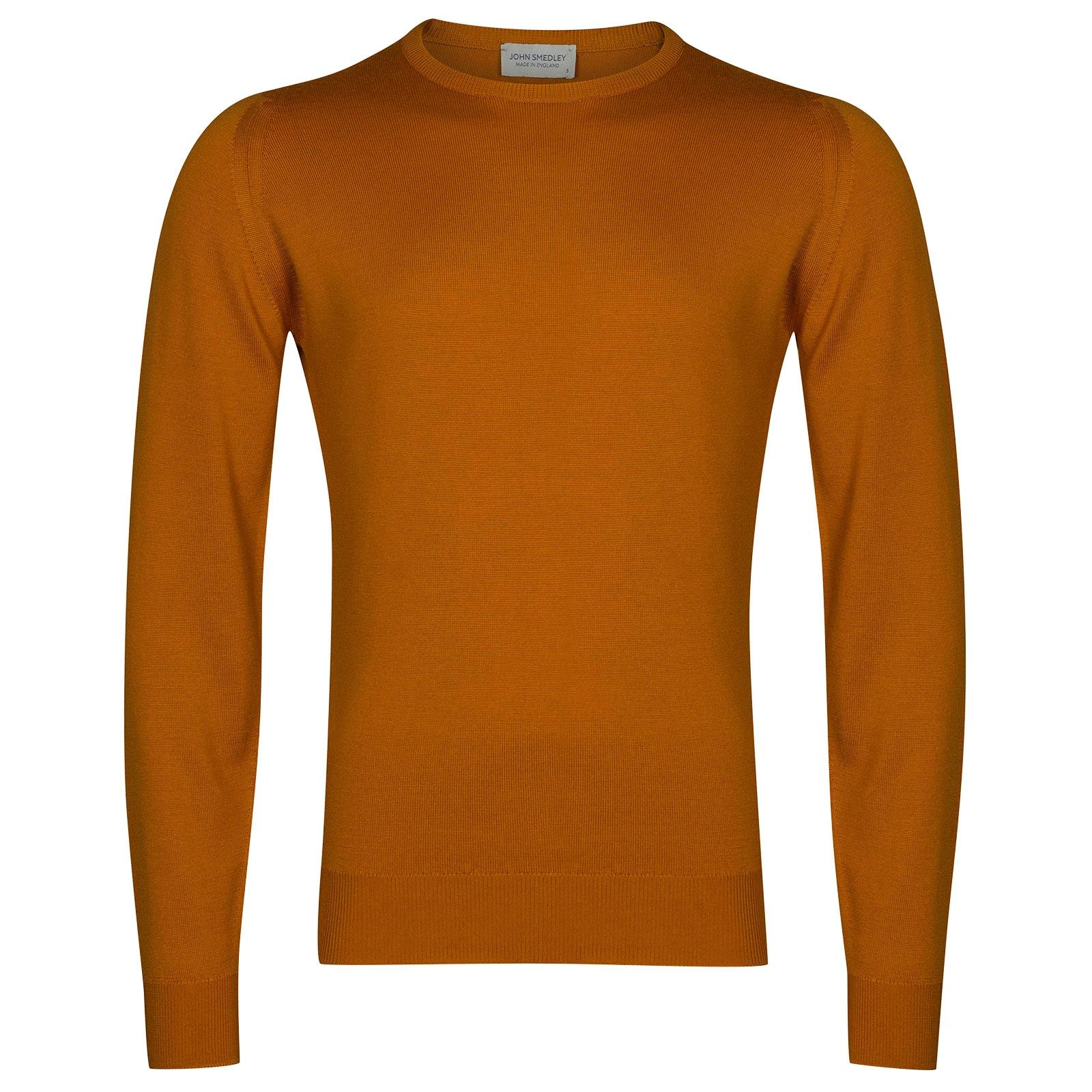 John Smedley Farhill Merino Wool Pullover in Bronze-L