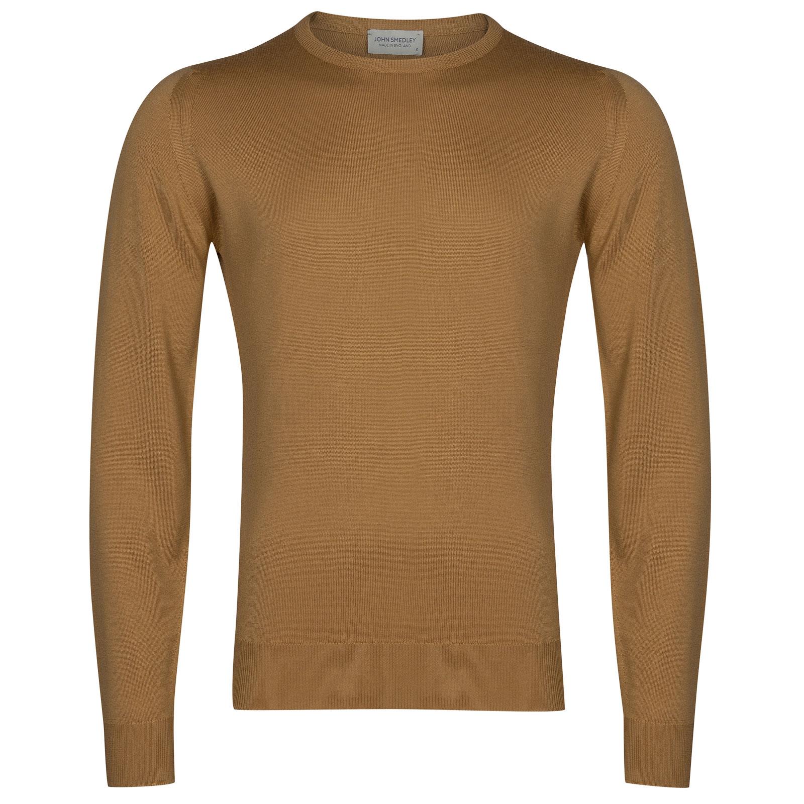 John Smedley farhill Merino Wool Pullover in Camel-M