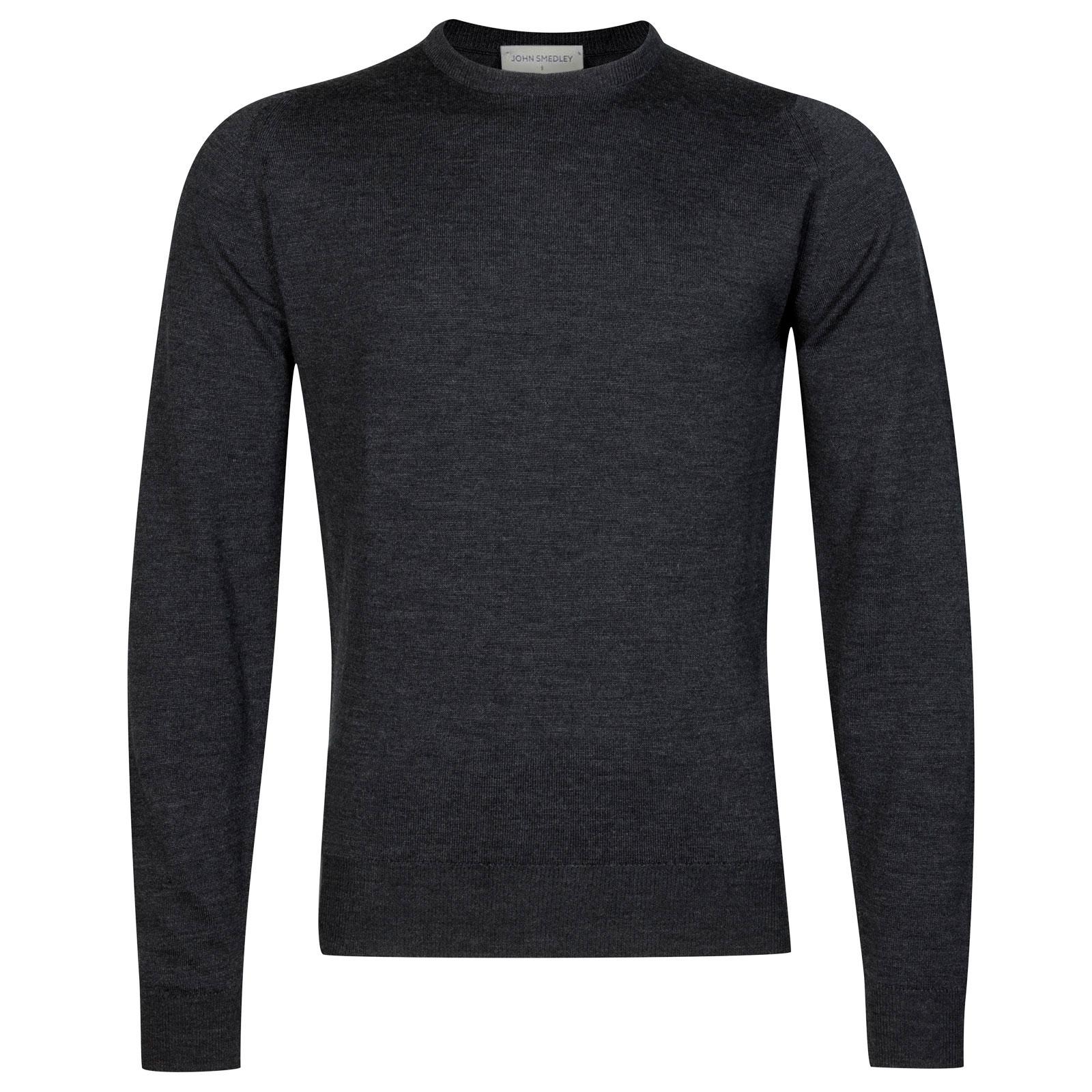 John Smedley Farhill Merino Wool Pullover in Charcoal-M
