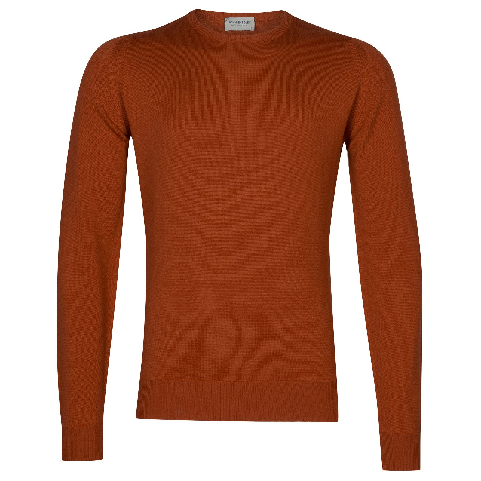 John Smedley farhill Merino Wool Pullover in Flare Orange-L
