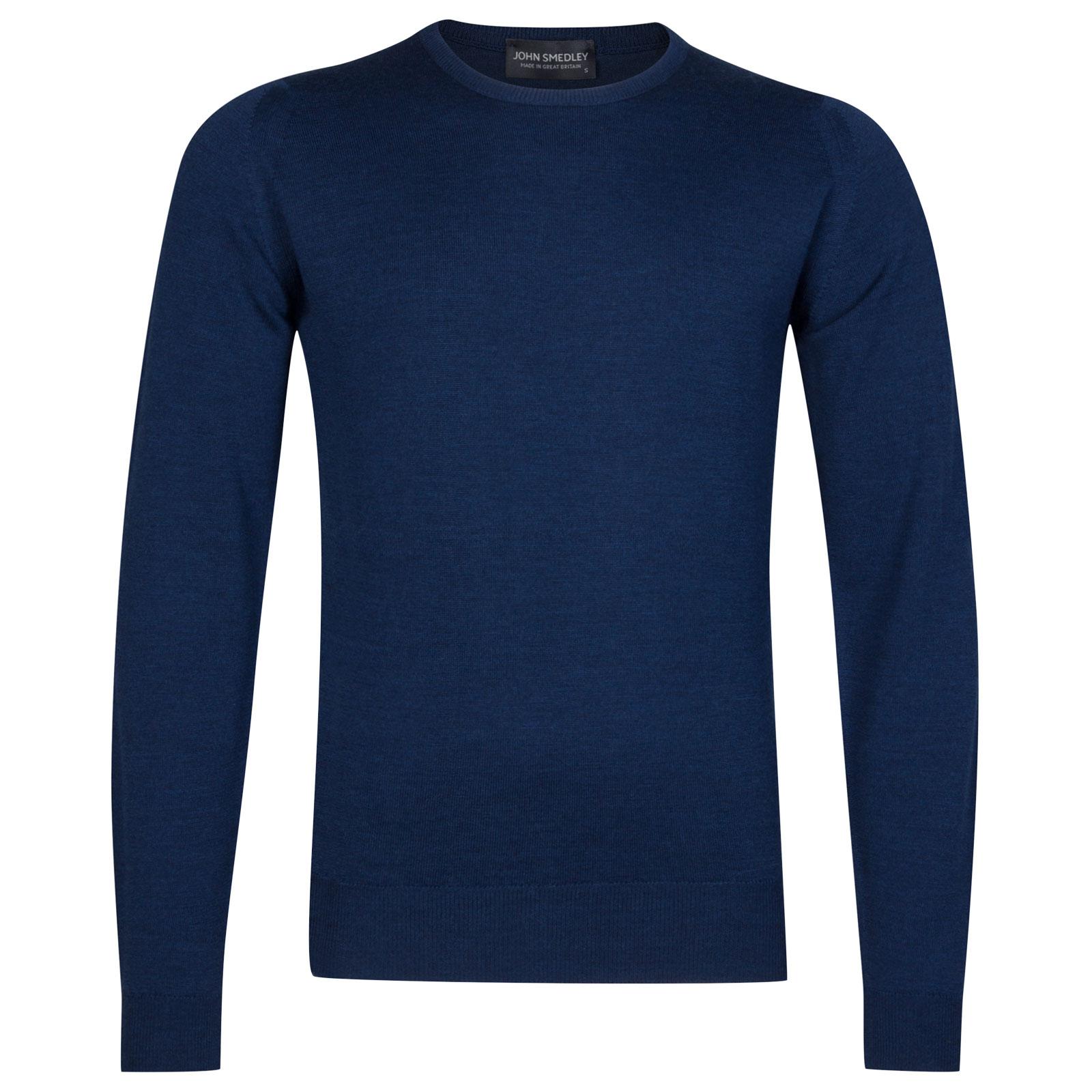 John Smedley farhill Merino Wool Pullover in Indigo-L