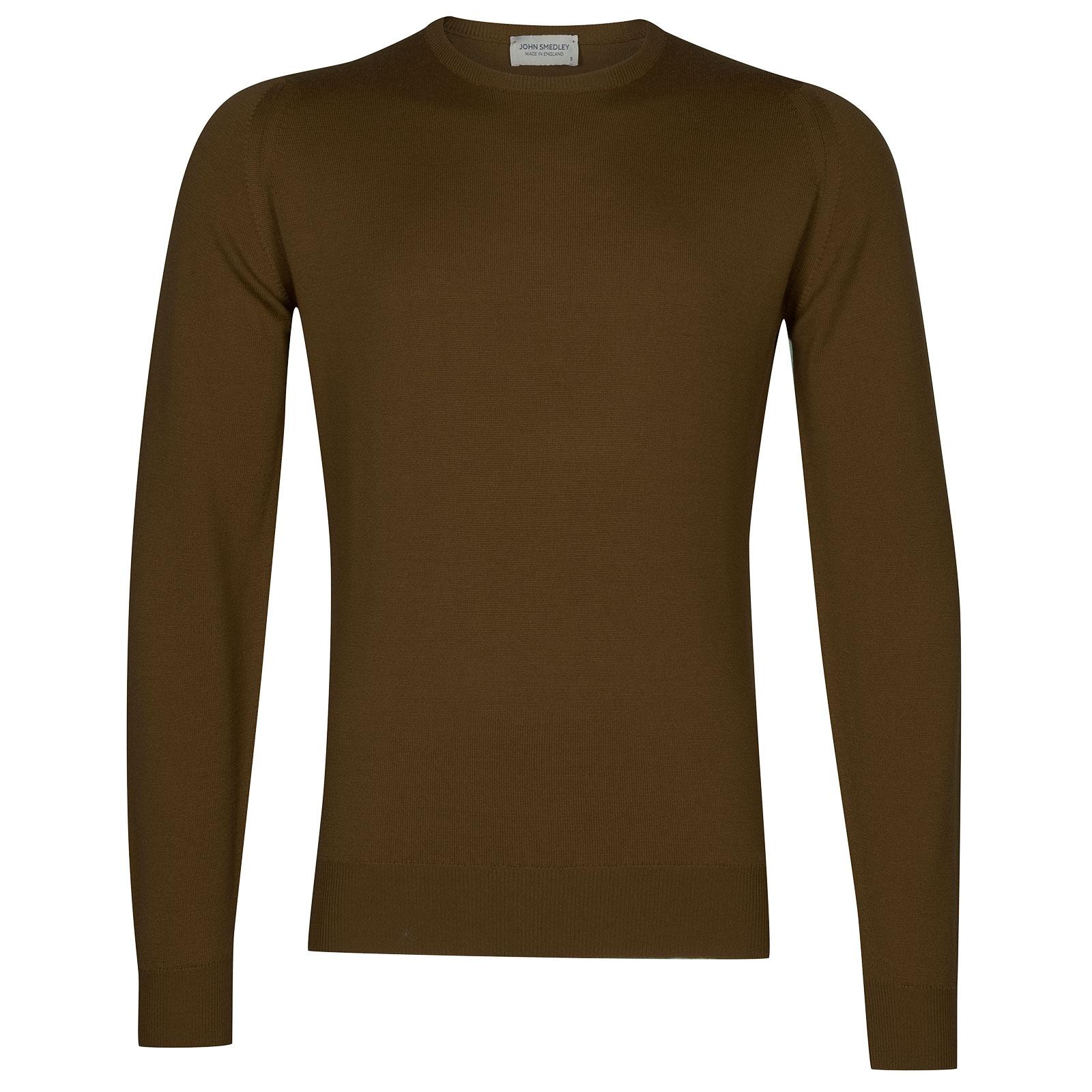 John Smedley Farhill Merino Wool Pullover in Khaki-XL