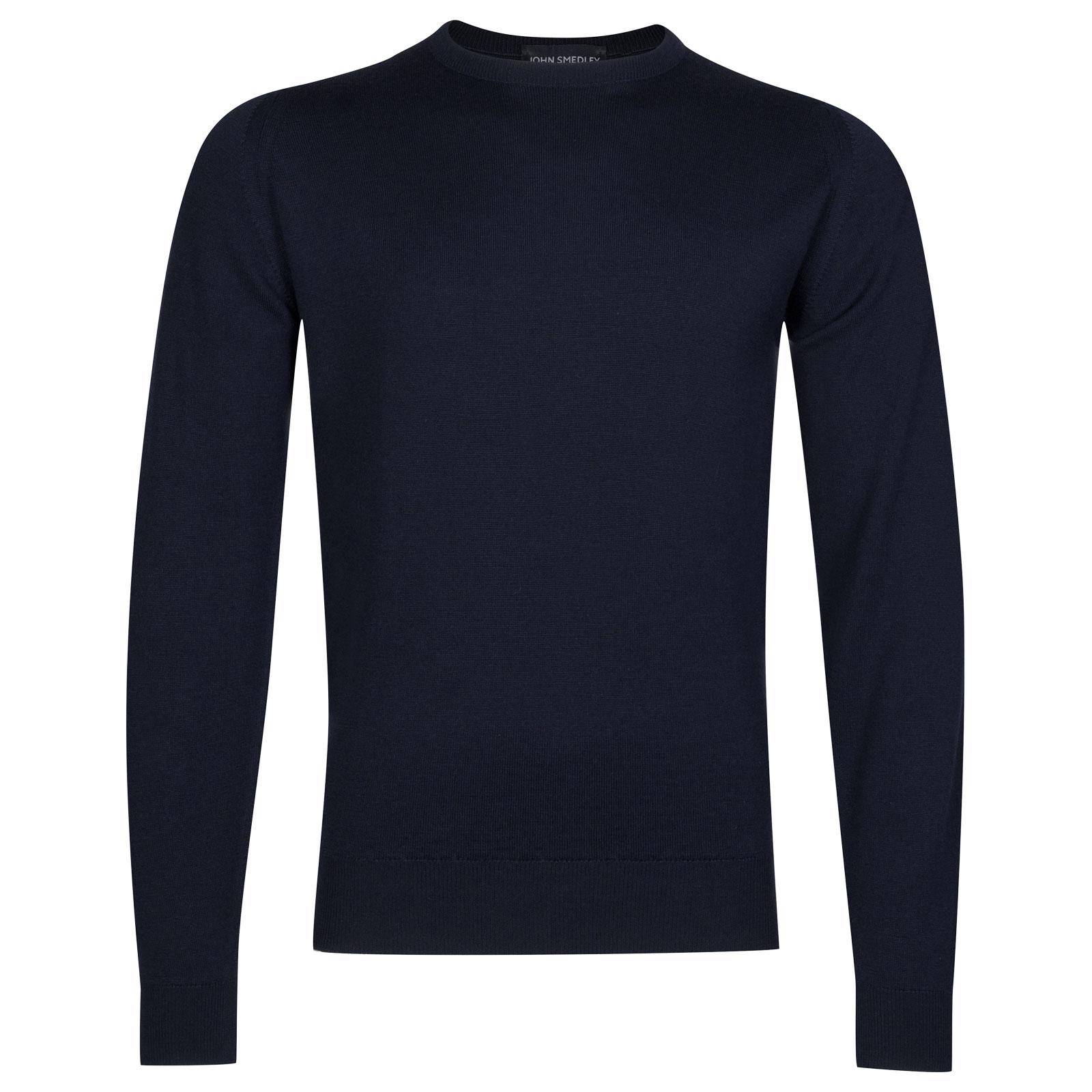 John Smedley farhill Merino Wool Pullover in Midnight-XL
