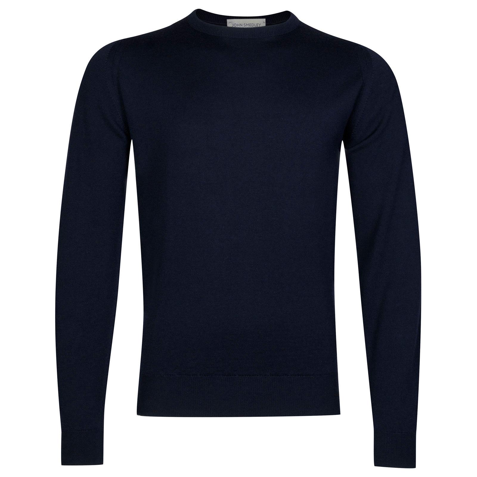John Smedley Farhill Merino Wool Pullover in Midnight-L