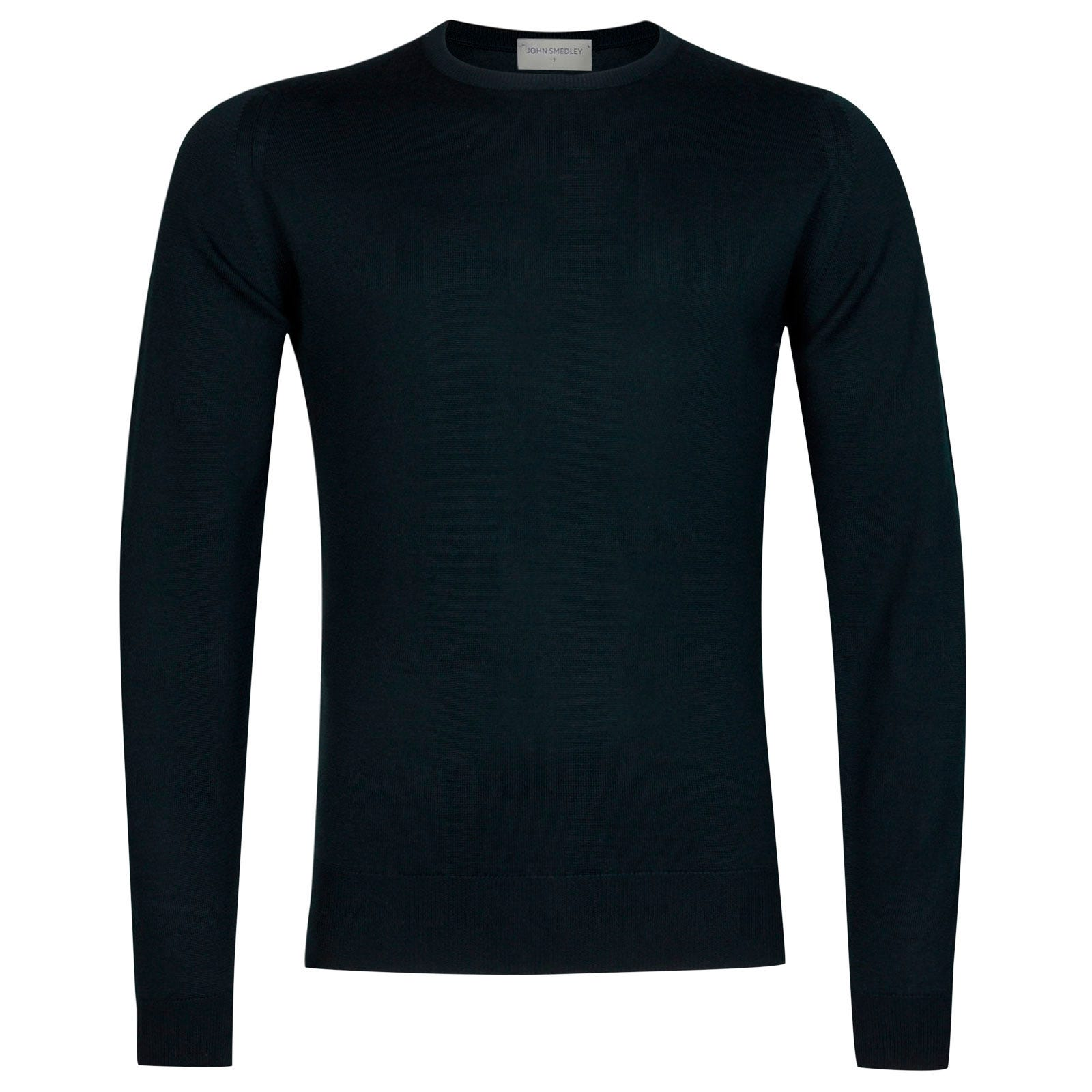 John Smedley Farhill Merino Wool Pullover in Racing Green-L